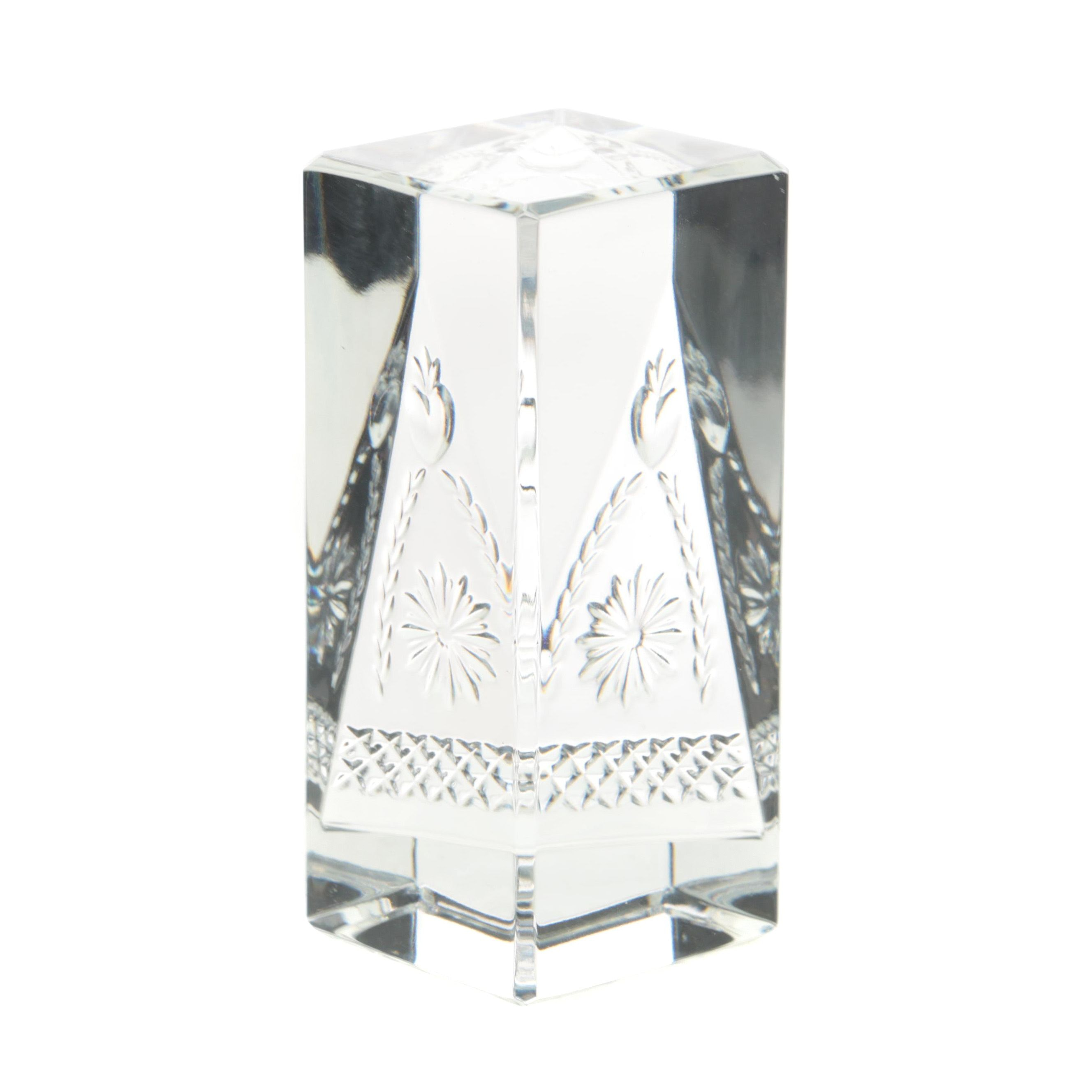 "Waterford Crystal  ""Times Square 2001"" Paperweight"