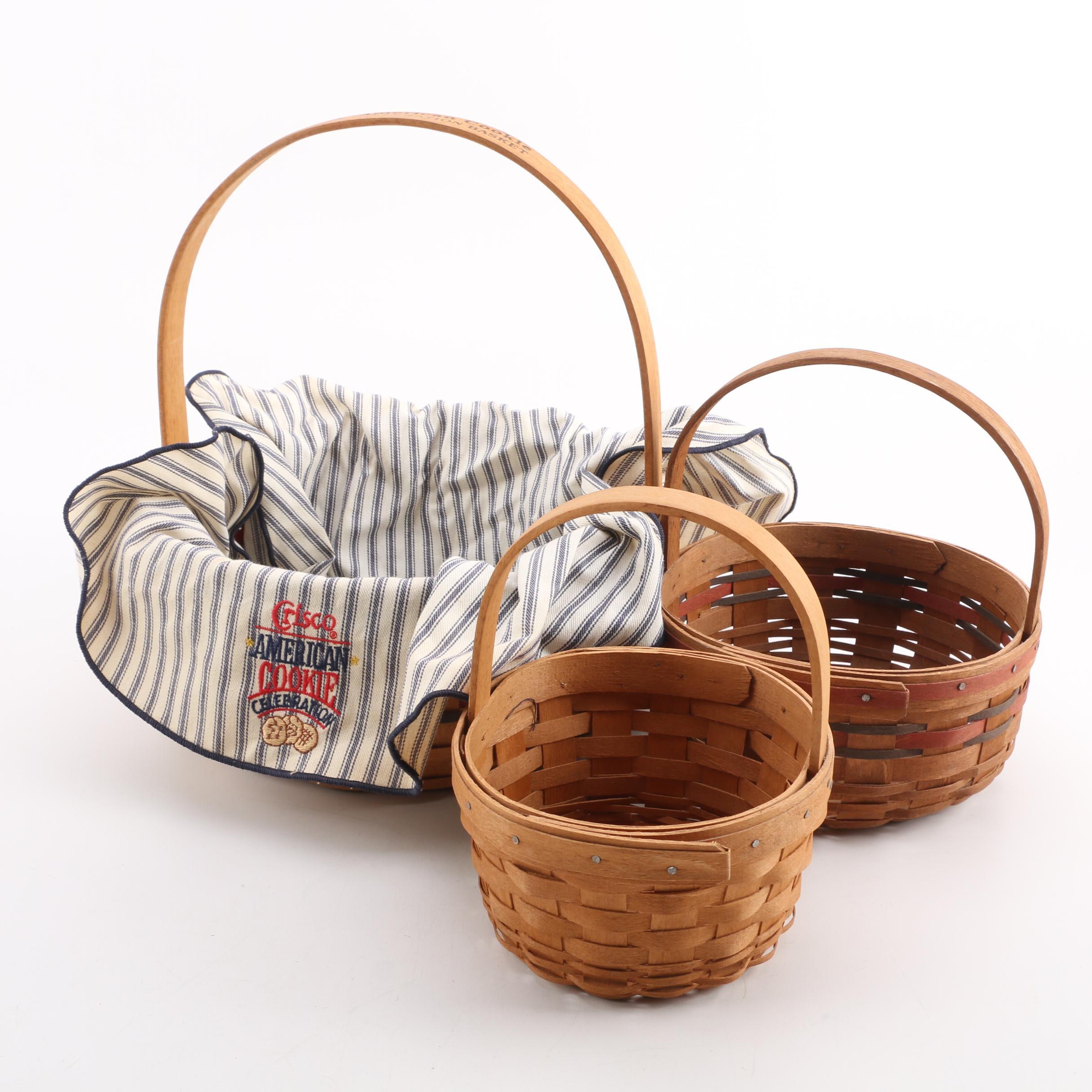 "Woven Baskets featuring Longaberger Crisco ""American Cookie Celebration"" Basket"