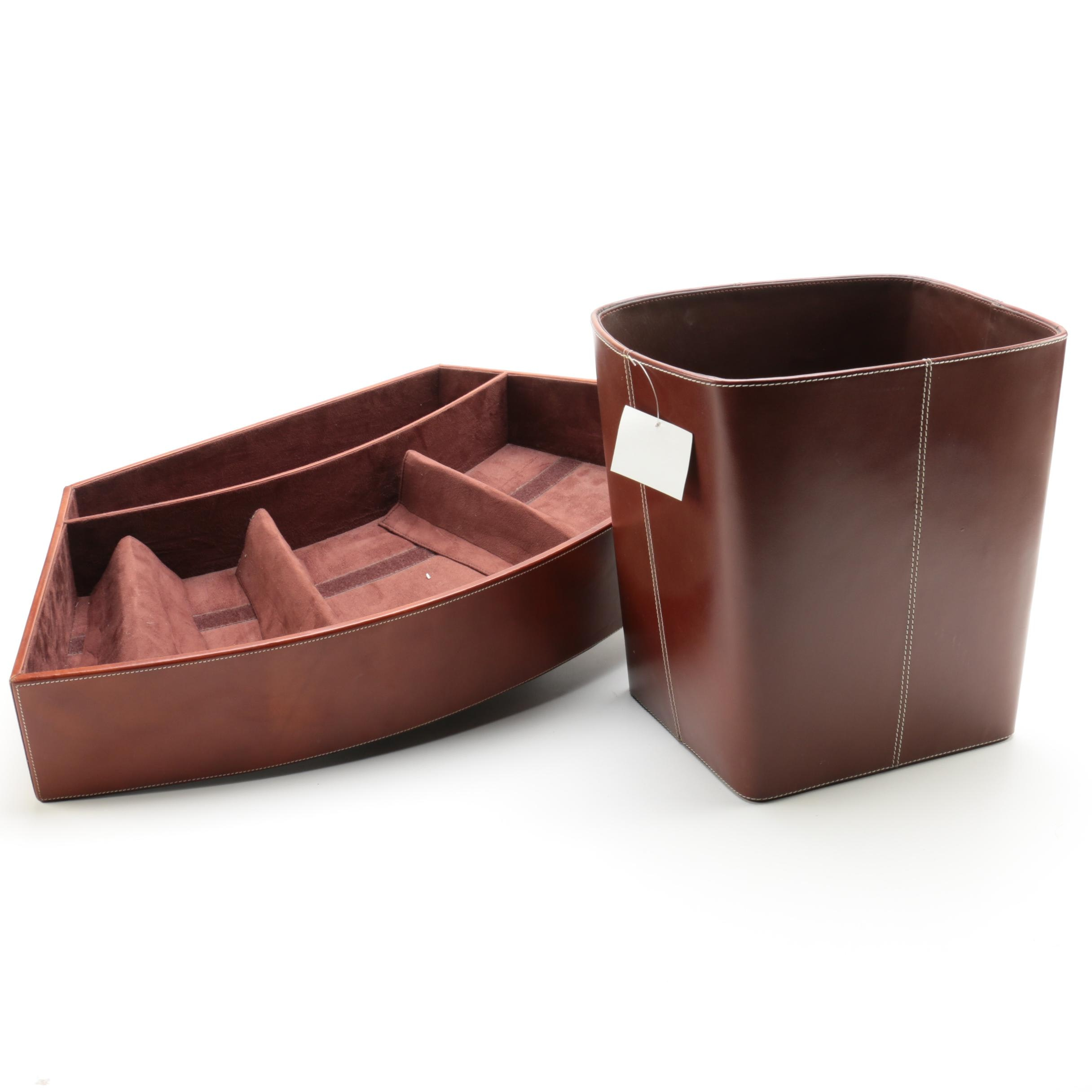 Aida Brown Leather Display Bar Set for a Hotel