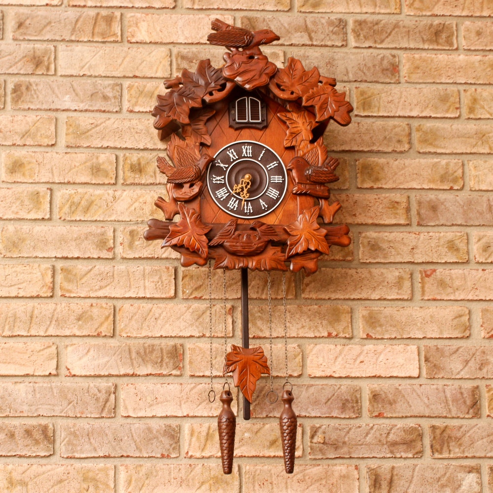 Black Forest Style Wood Cuckoo Clock