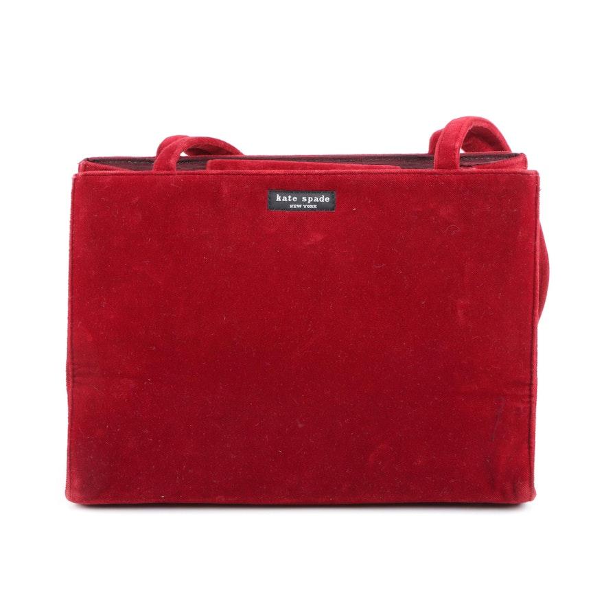 Vintage Kate Spade New York Velvet Handbag