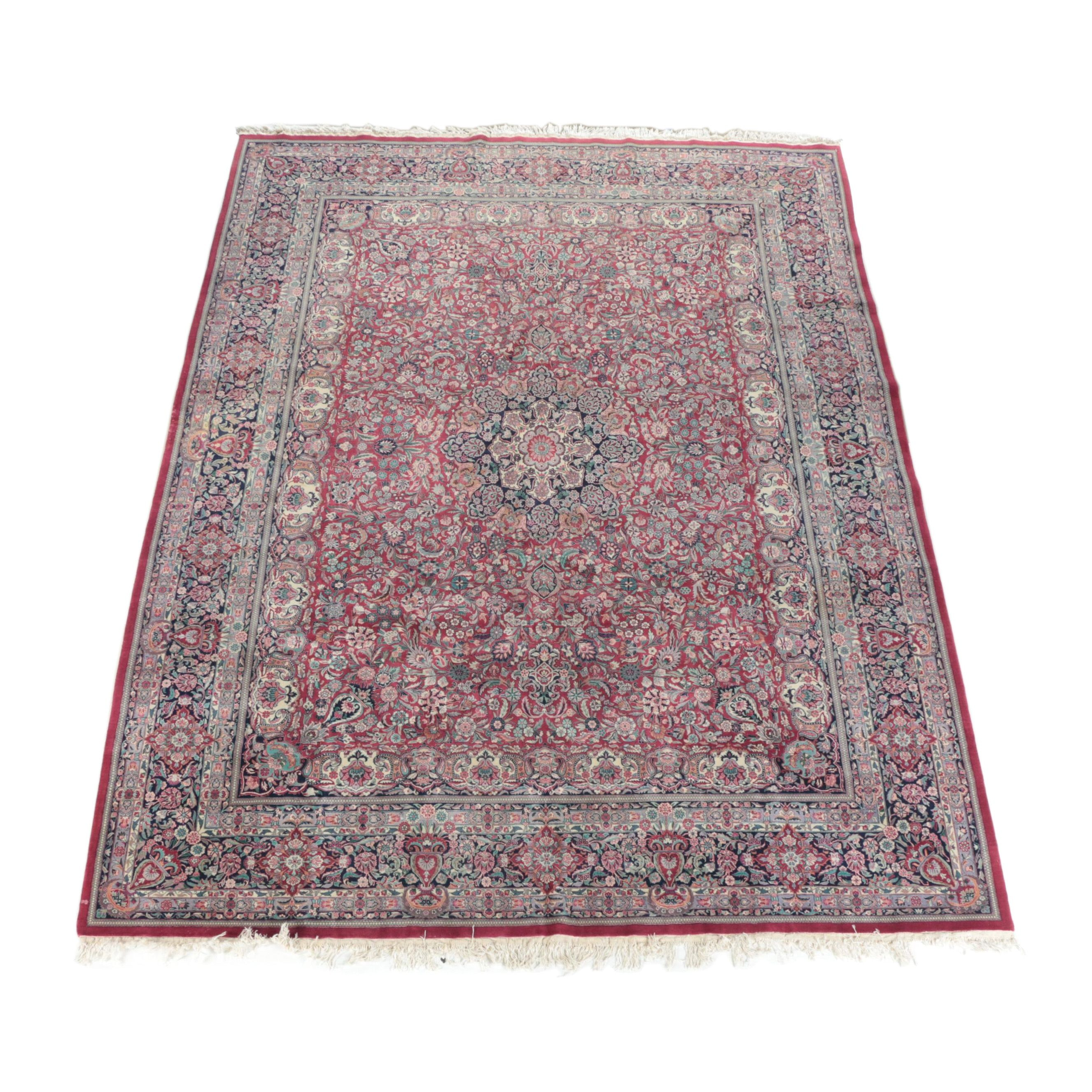 Finely Hand-Knotted Turkish Hereke Silk Blend Room Size Rug