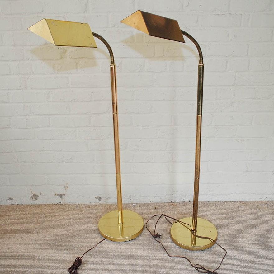Adjustable brass floor reading lamps ebth adjustable brass floor reading lamps aloadofball Gallery