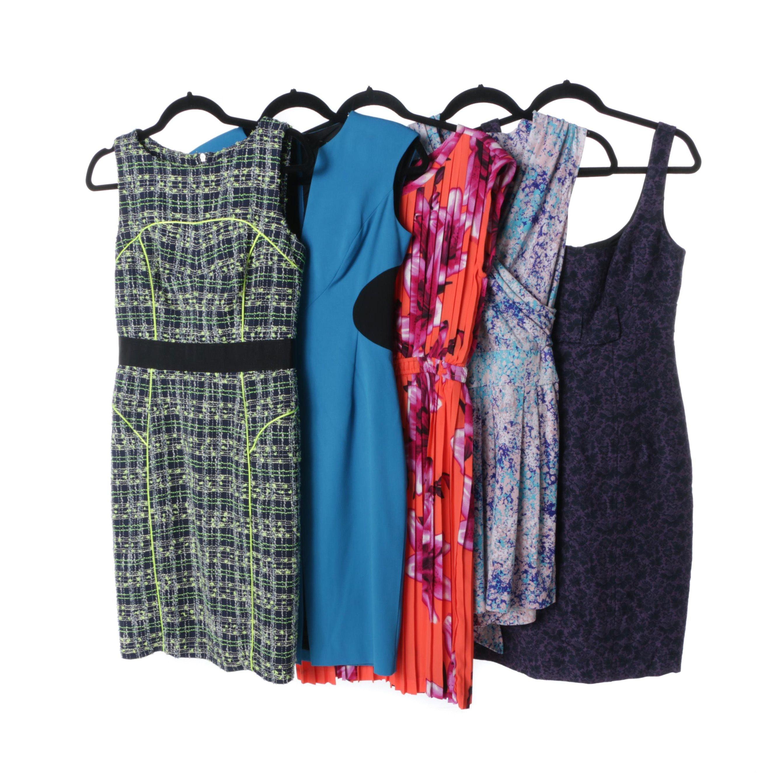 Contemporary Dresses Including Nanette Lepore, Black Halo, Milly, Baraschi