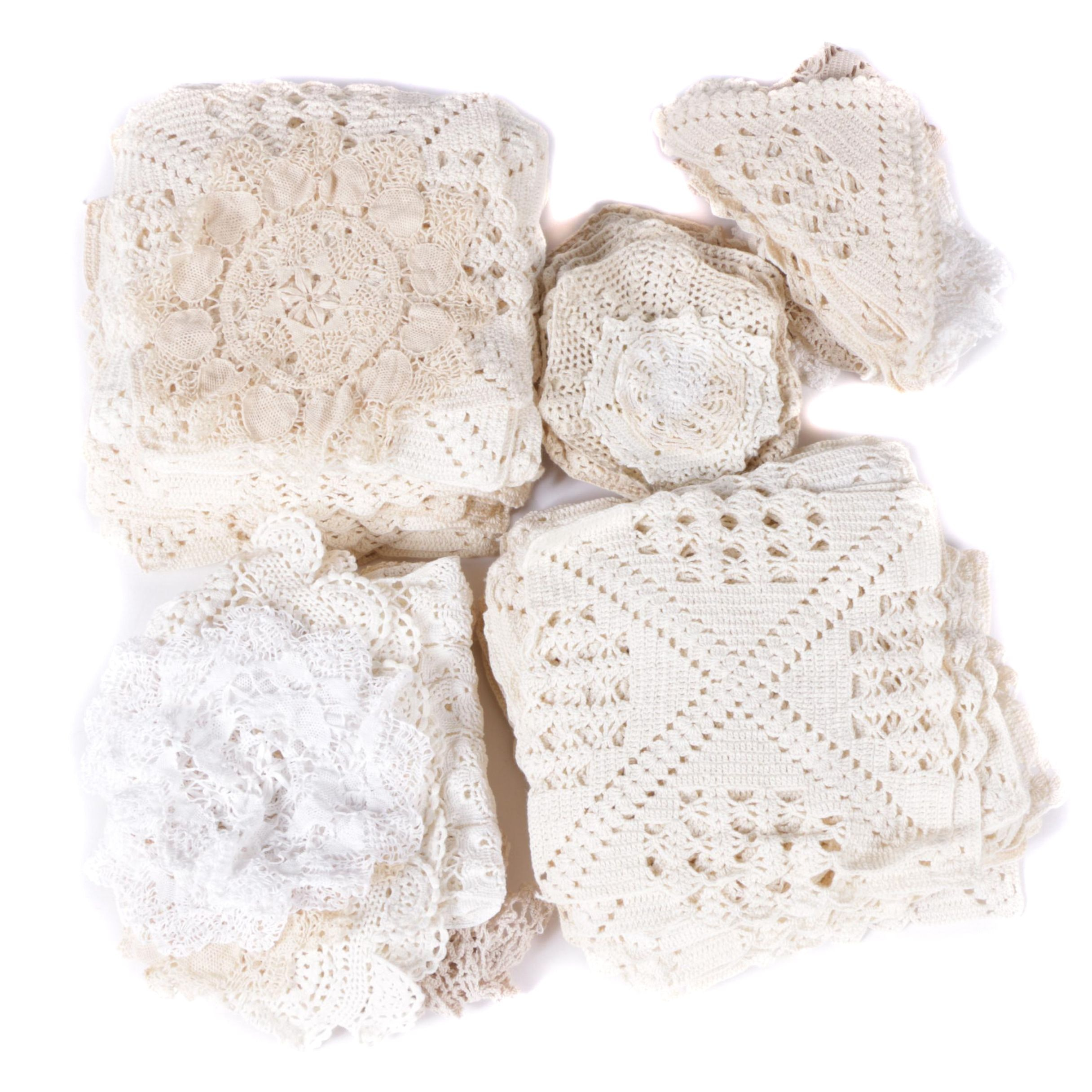 Collection of Vintage Crocheted Doilies