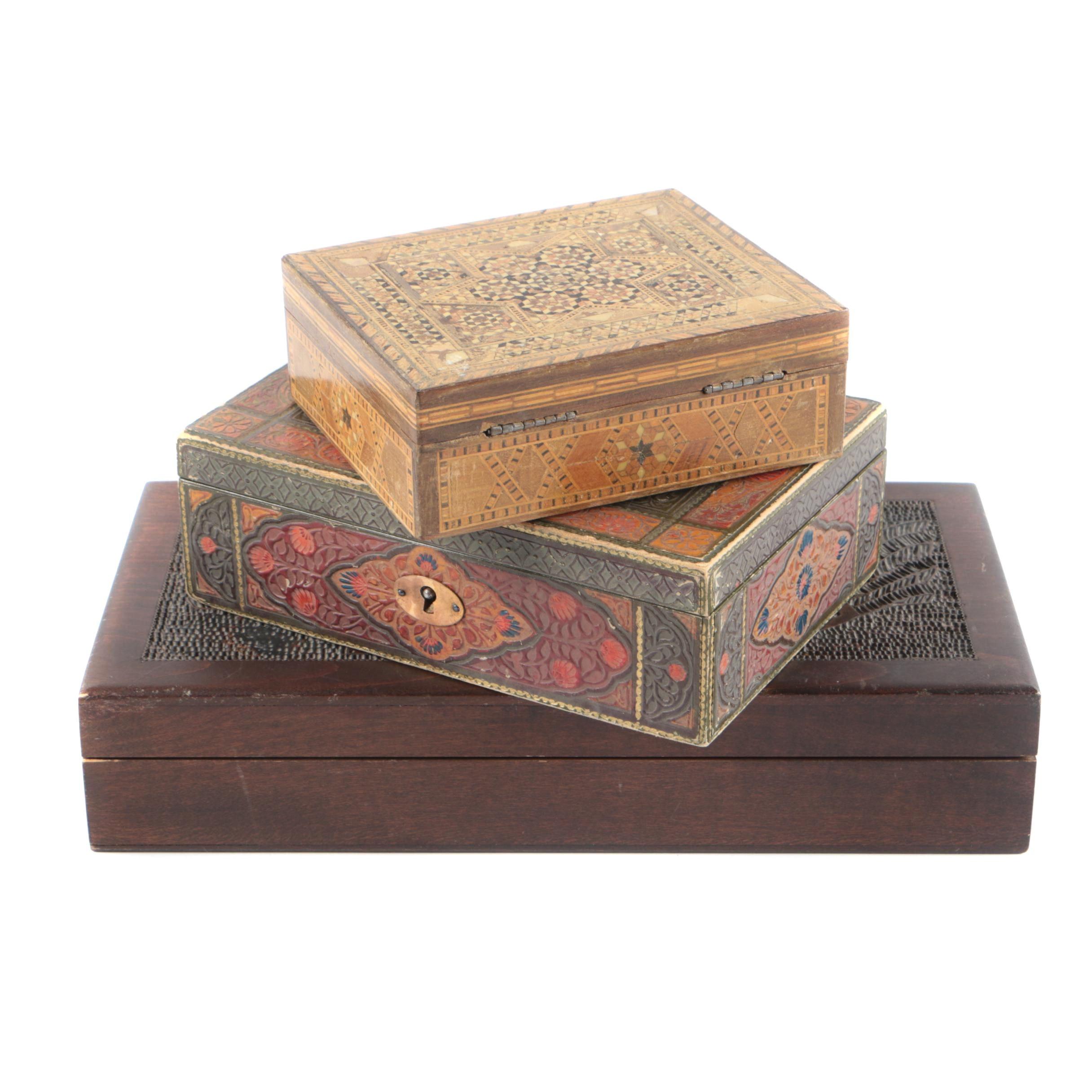 Decorative Wooden Vanity Boxes