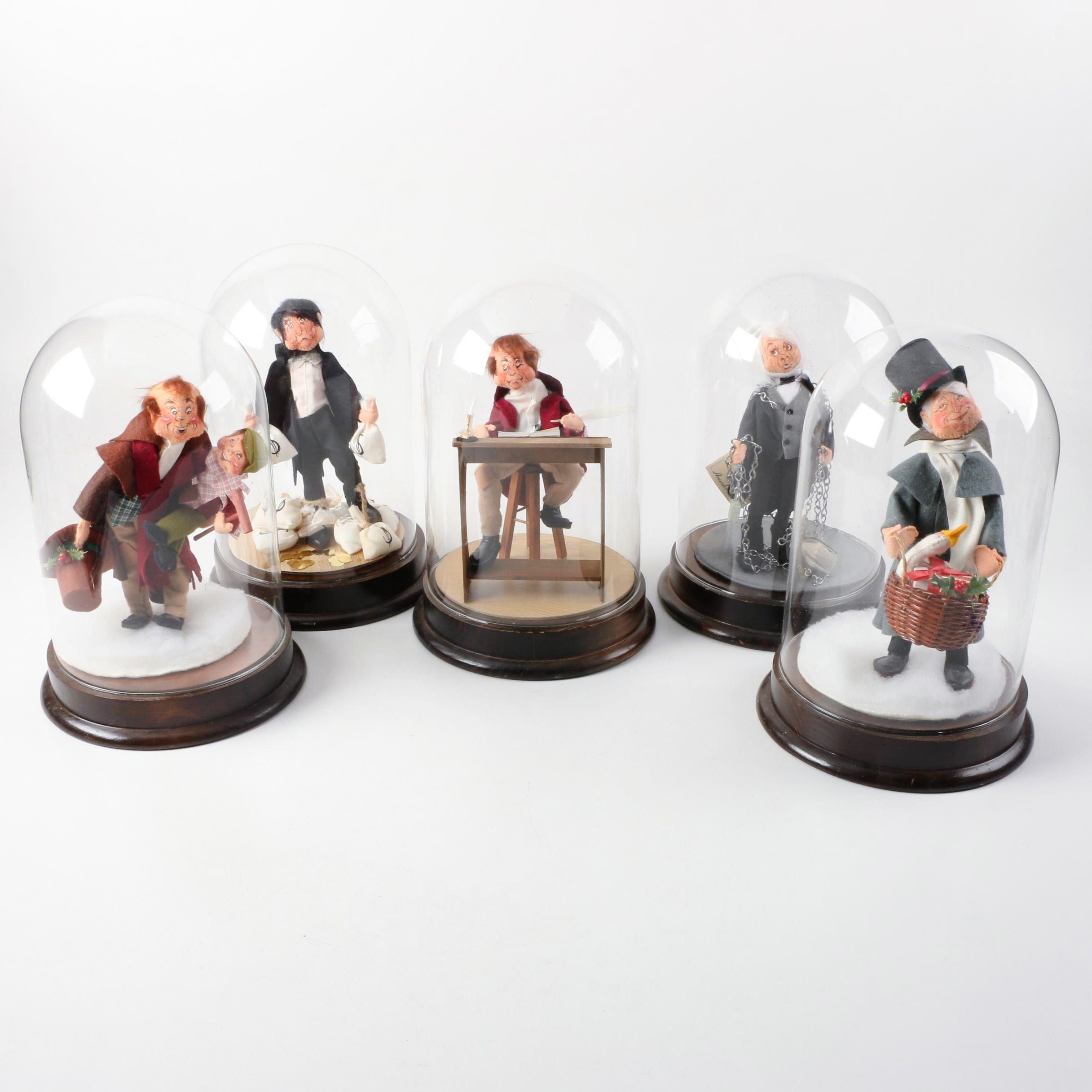 "Annalee Mobilitee ""Christmas Carol"" Collectible Dolls"
