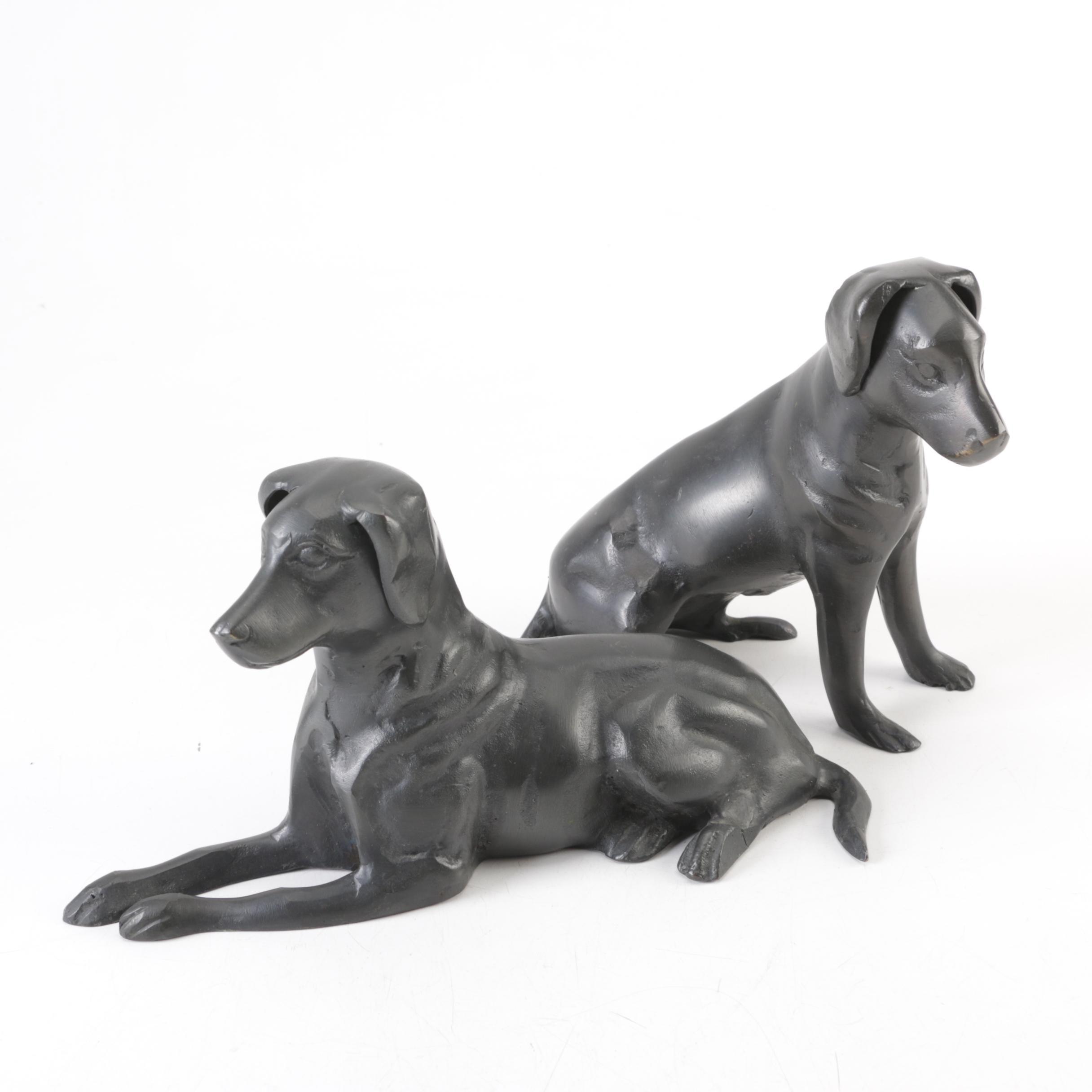 Cast Metal Dog Figurines