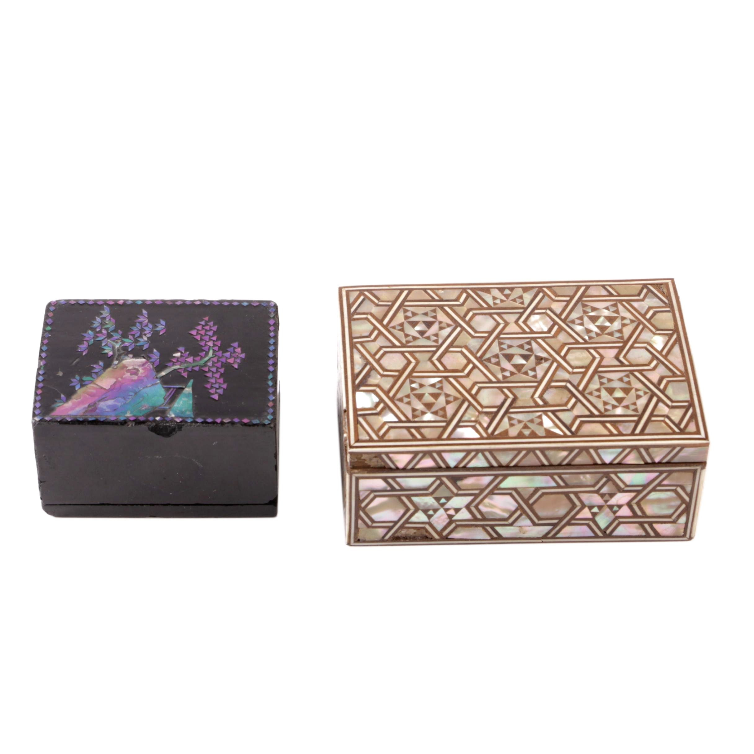 Lacquer and Inlay Decorative Boxes