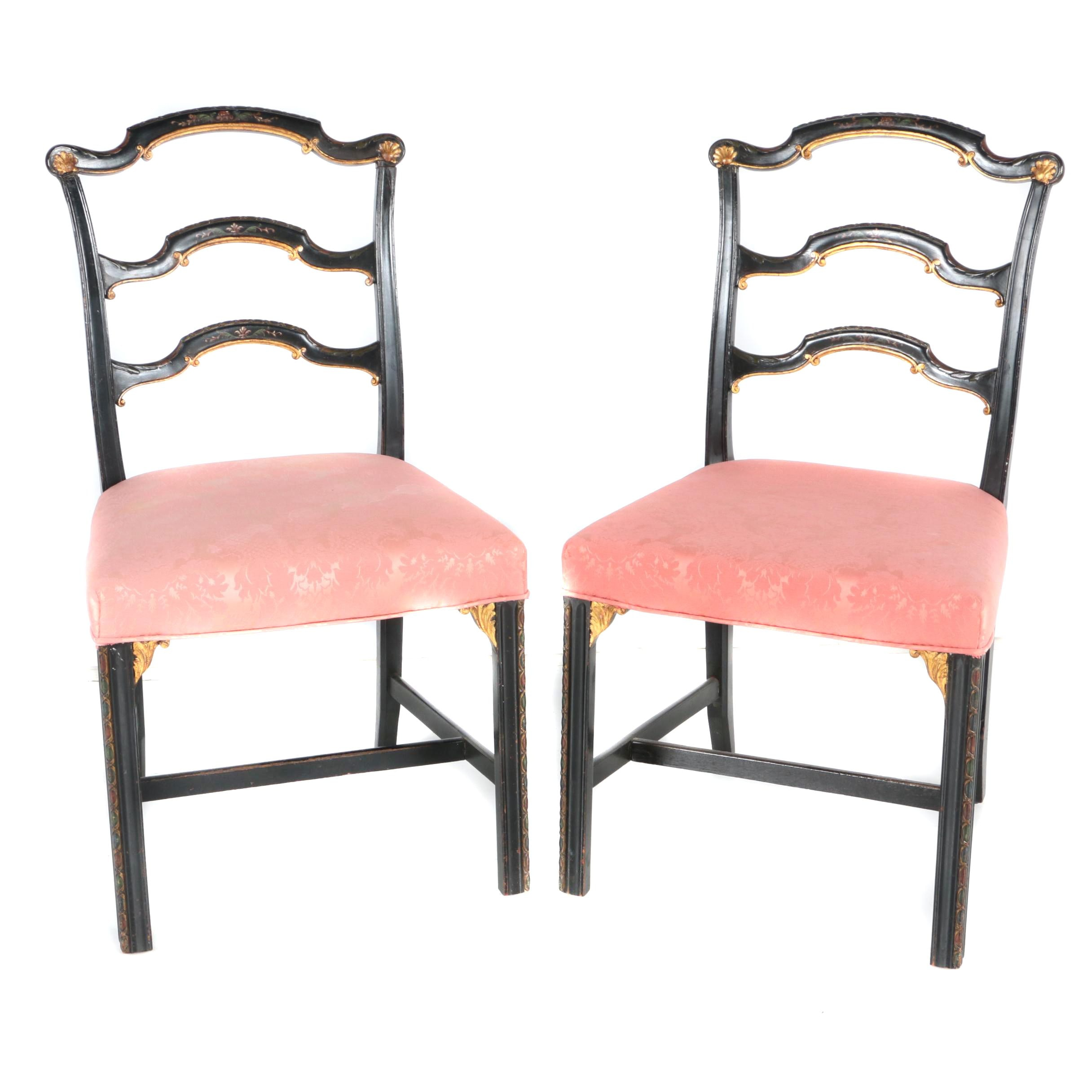Vintage Neoclassical Style Dining Chairs