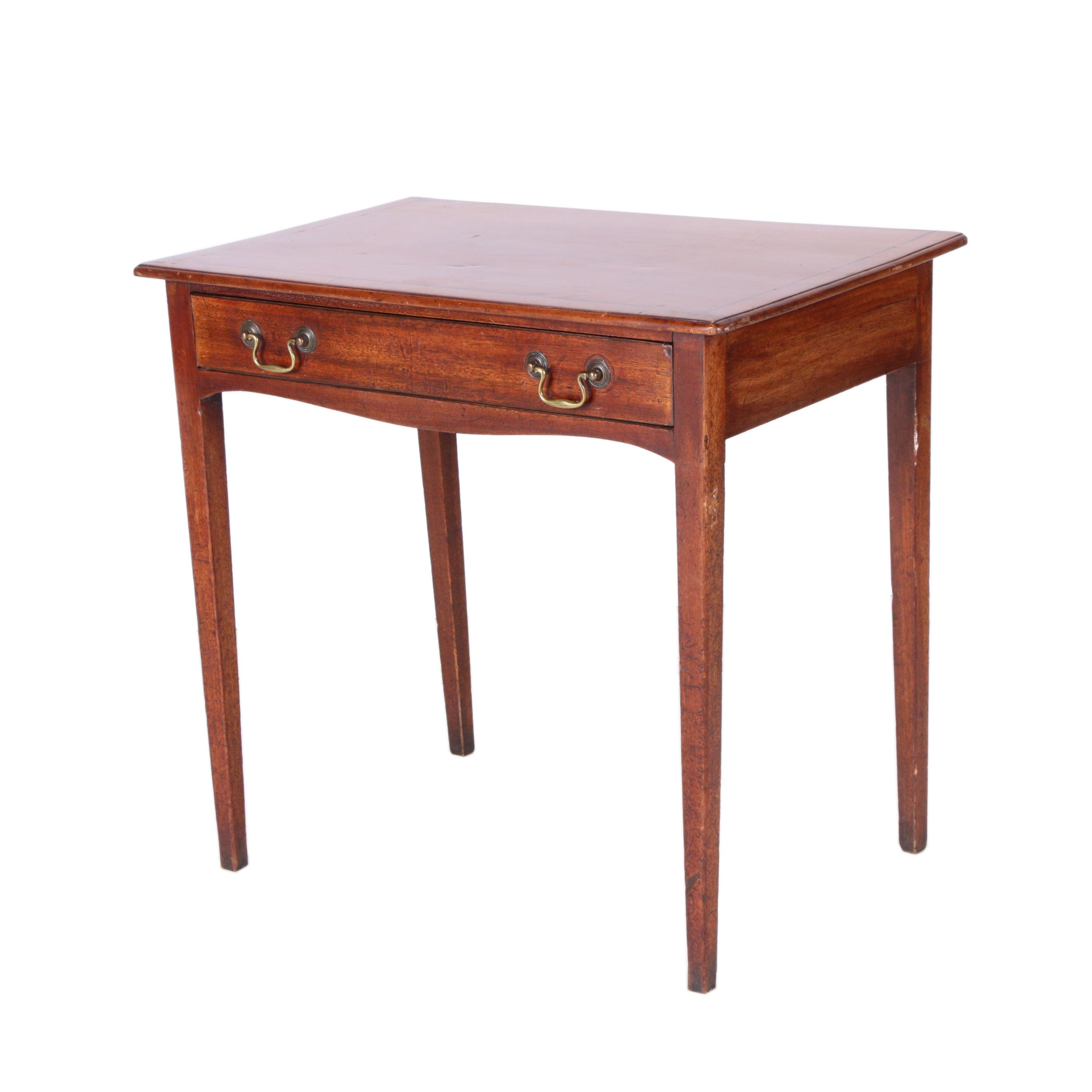 Antique Wooden End Table EBTH