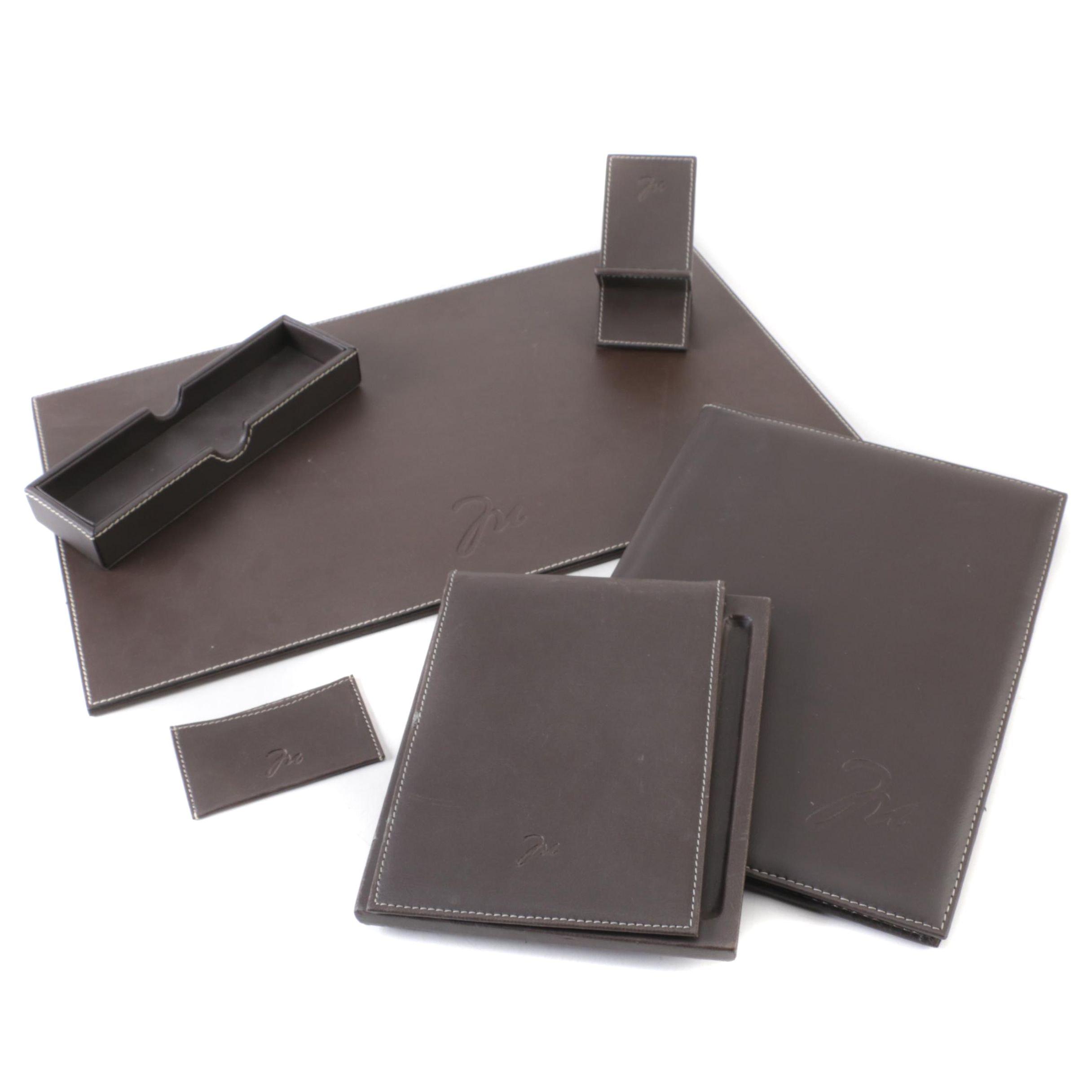 Indian Faux Leather Desk Set
