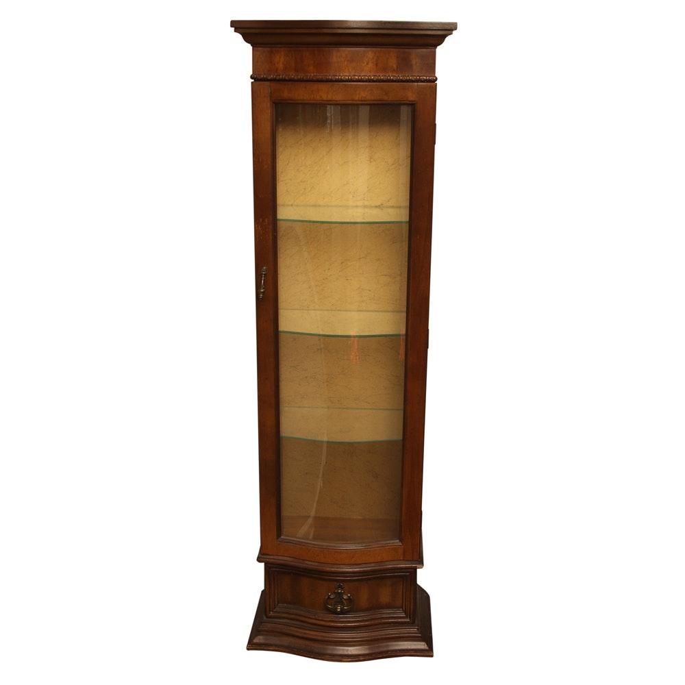 Vintage Mediterranean Style Curio Cabinet