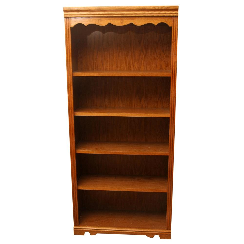 Oak Grain Laminate Bookshelf