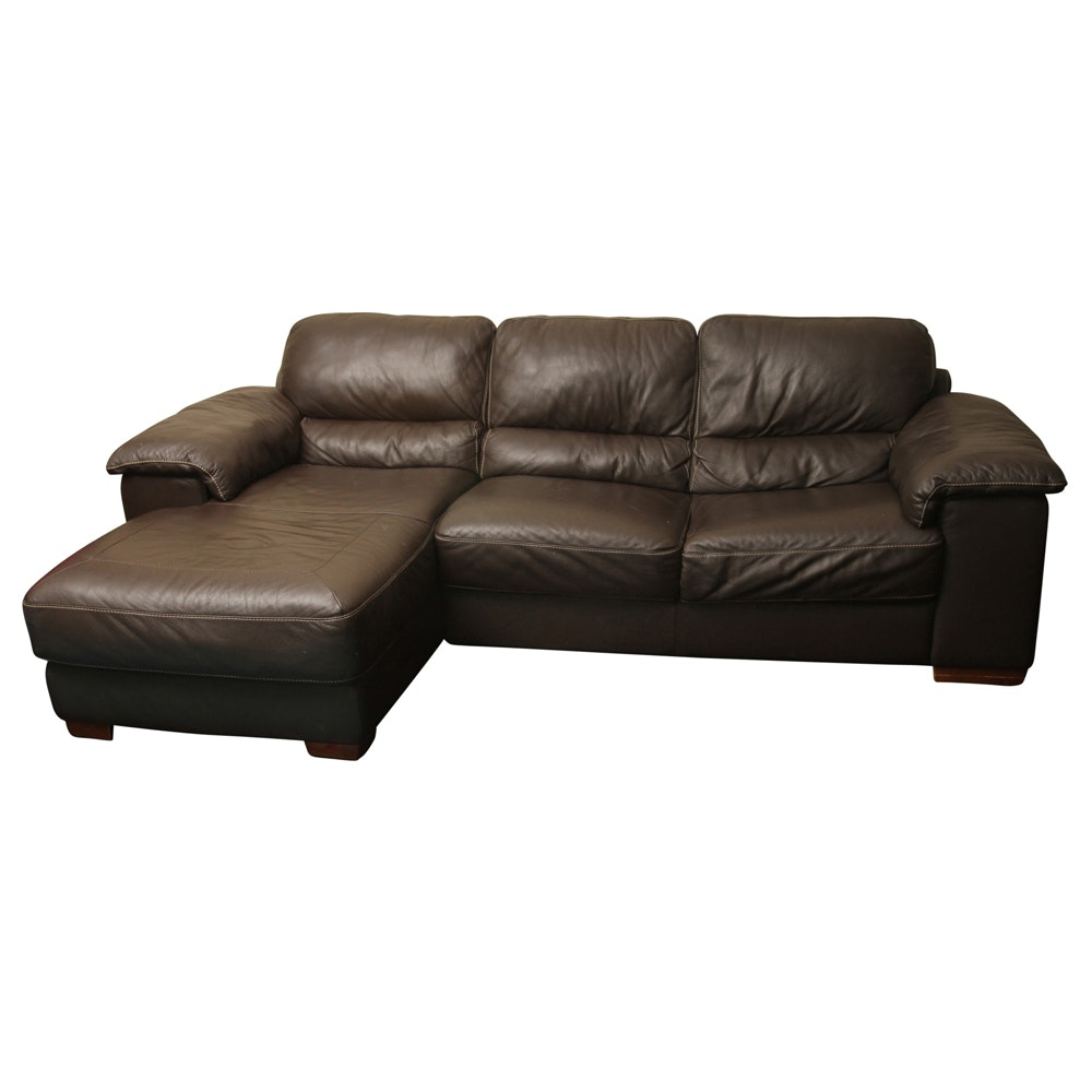 Vinyl Upholstered Sectional Sofa