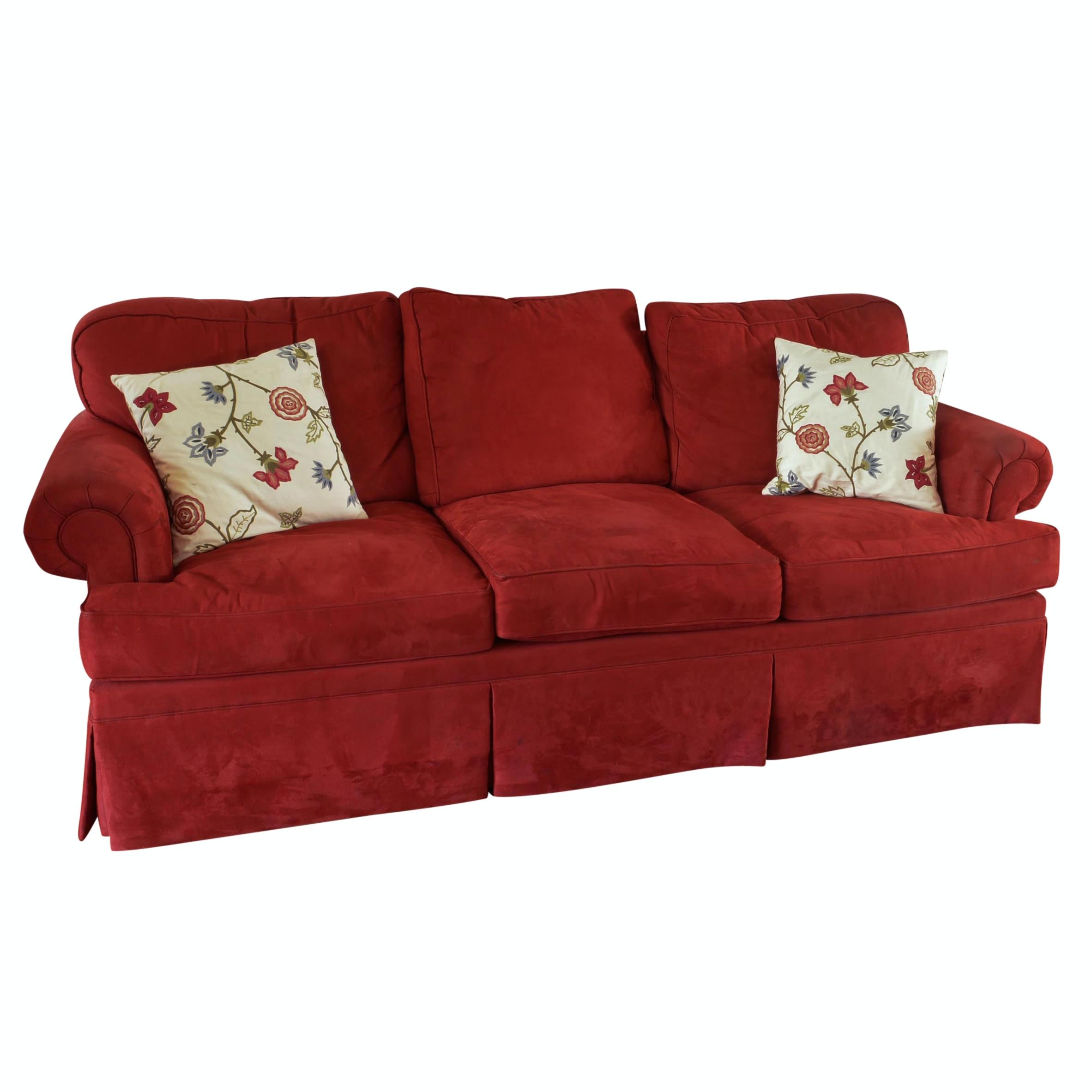 Henredon Microsuede Sofa; 1x1 ...