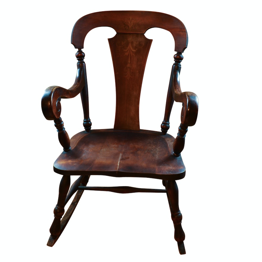 Antique Rocking Chair By Sikes Chair Company Ebth