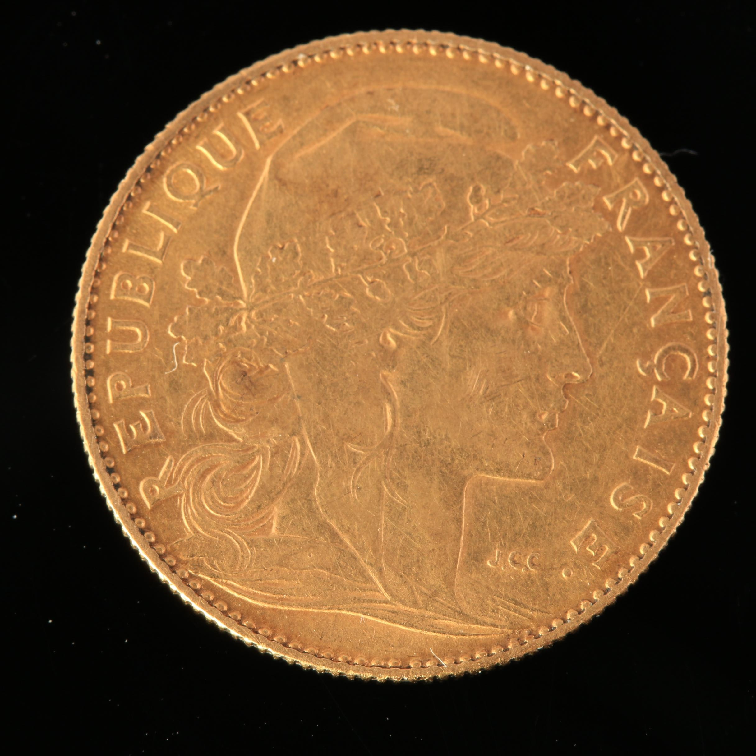1900 French 10 Francs Gold Coin