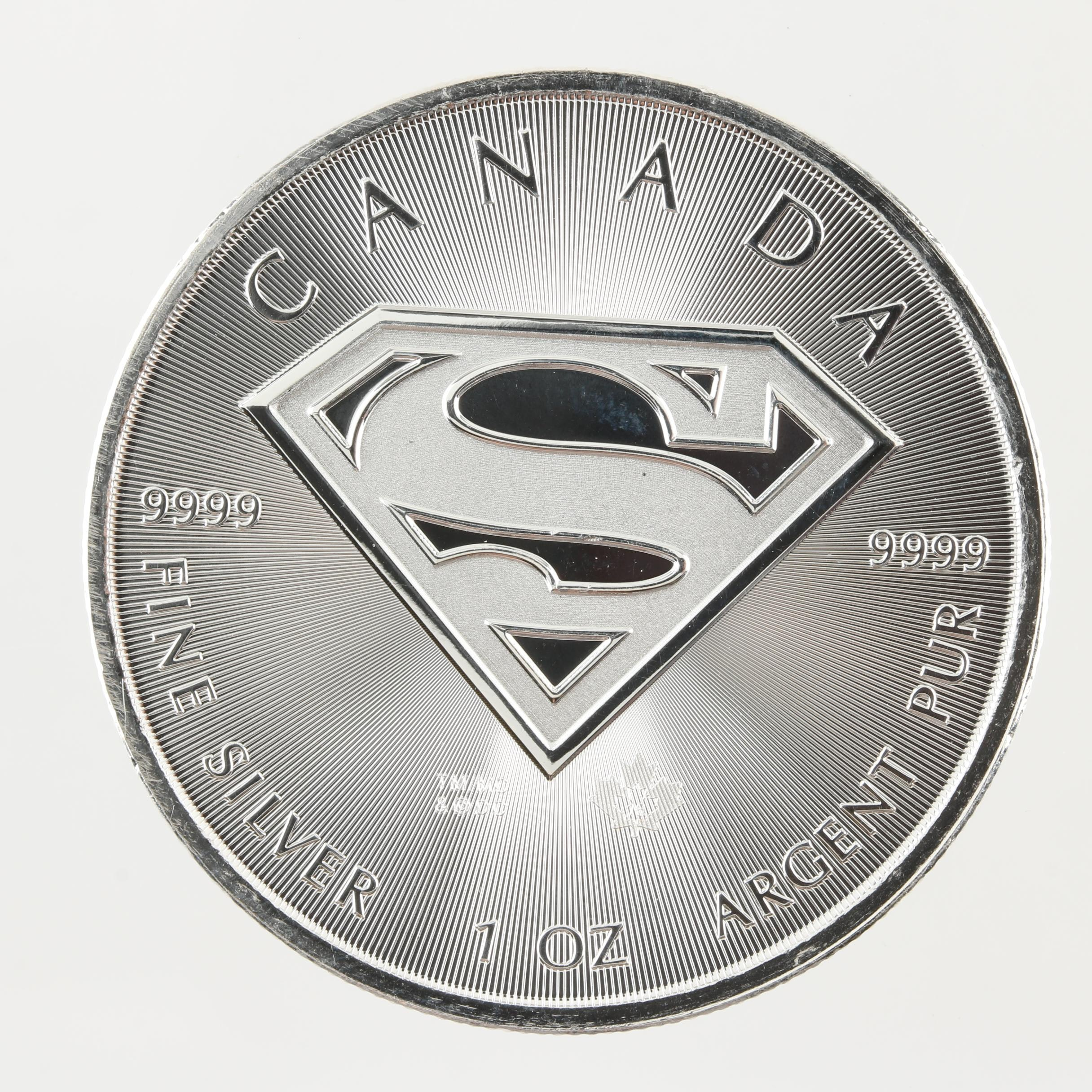 2016 Canadian $5 Silver Superman Shield Coin