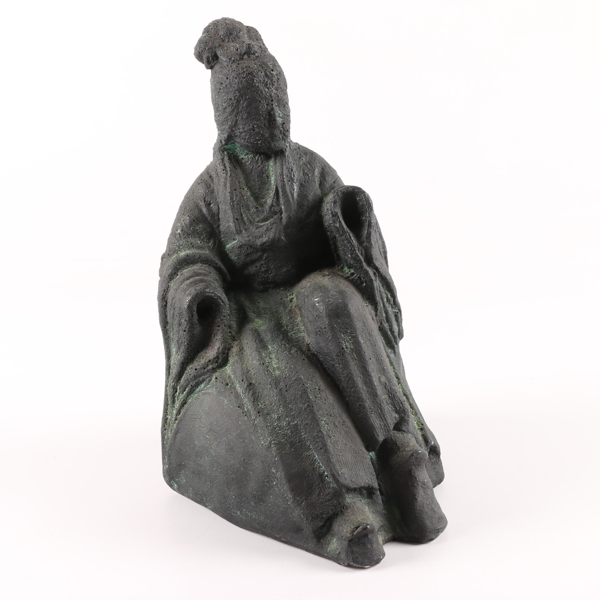 Asian Inspired Plaster Figurine