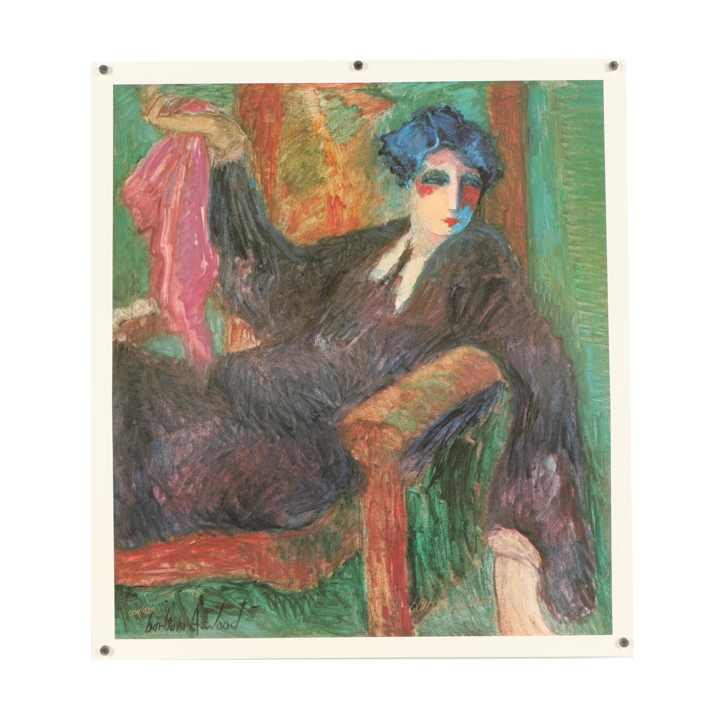 Barbara A. Wood Offset Lithograph