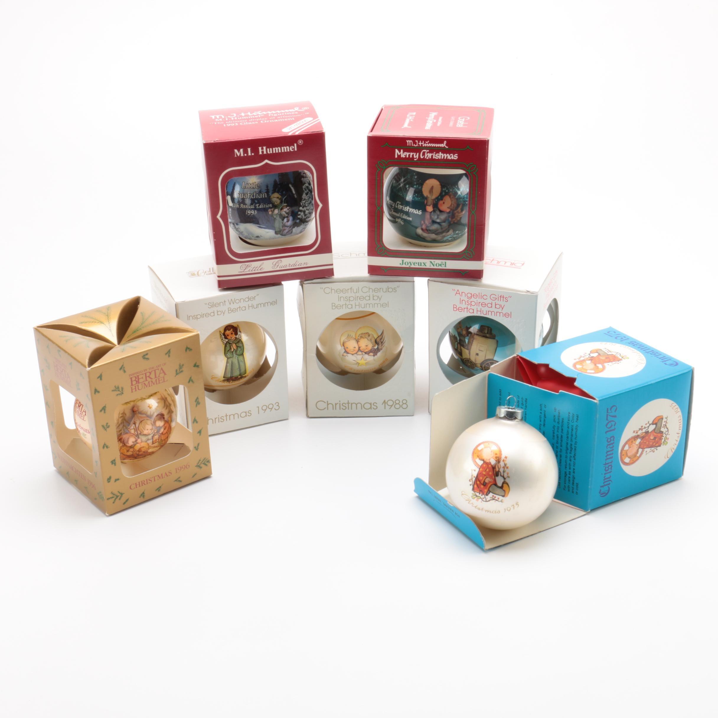 Vintage Hummel and Schmid Christmas Ornaments