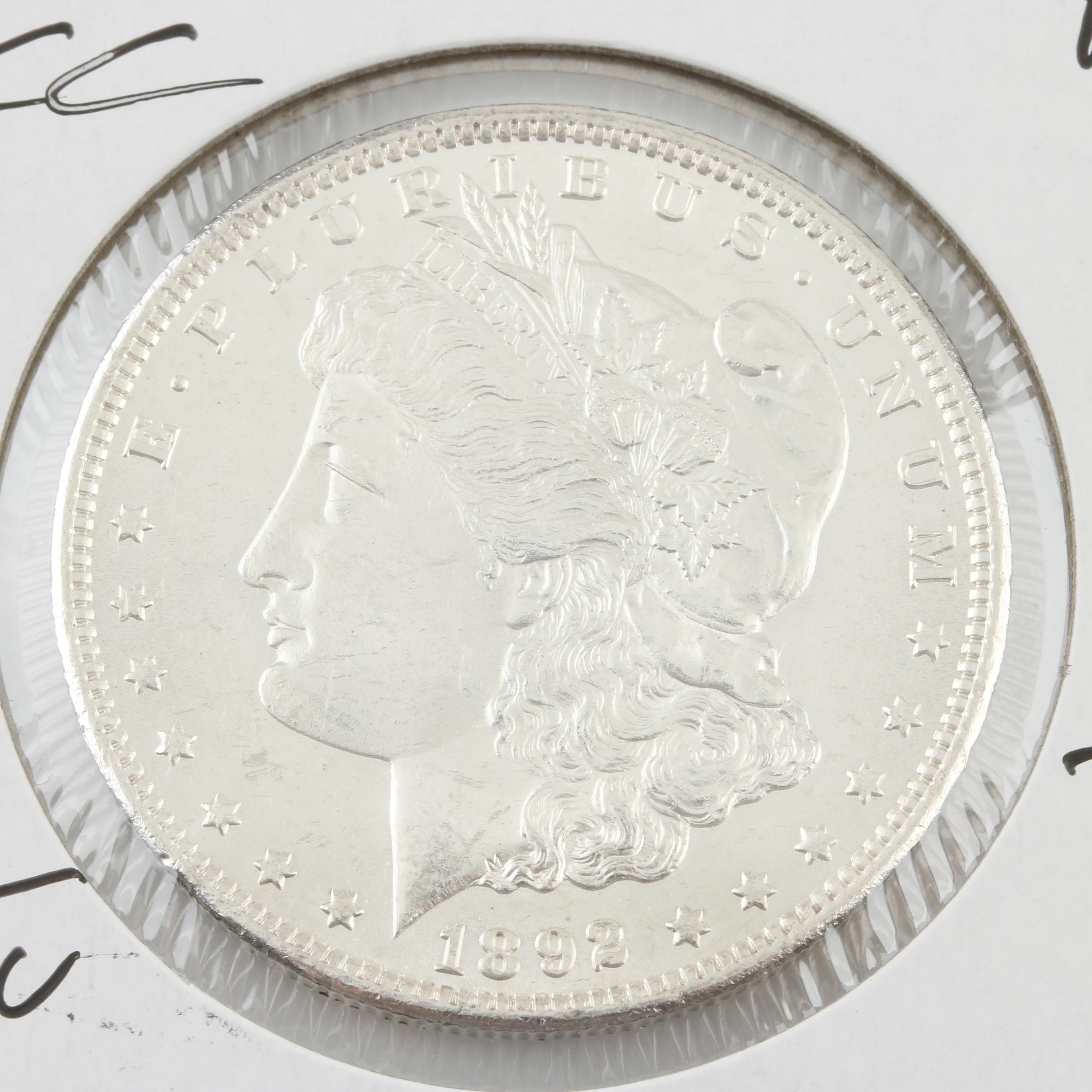 1892 Carson City Silver Morgan Dollar
