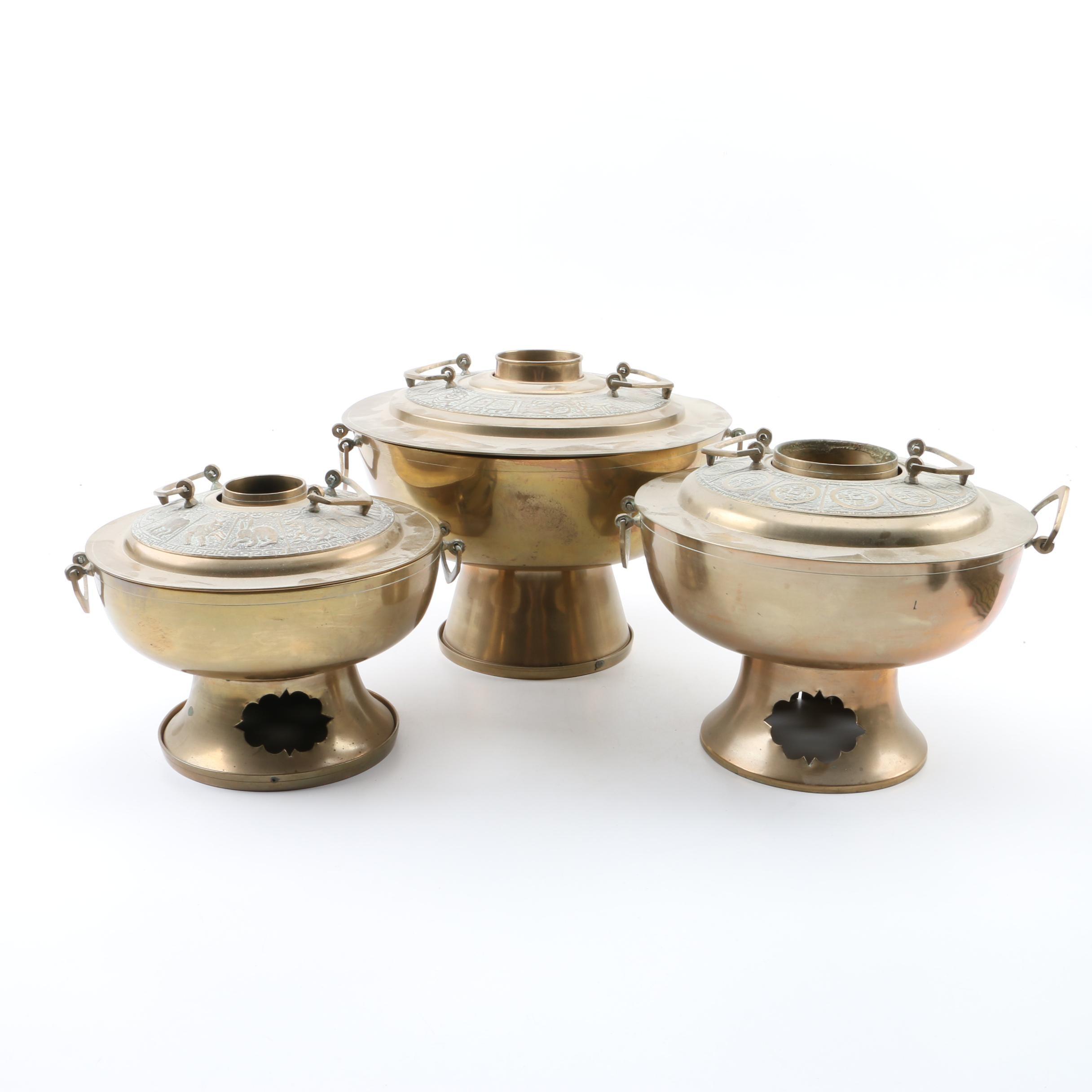 Korean Brass Sin-Sul-Lo Hot Pot Braziers