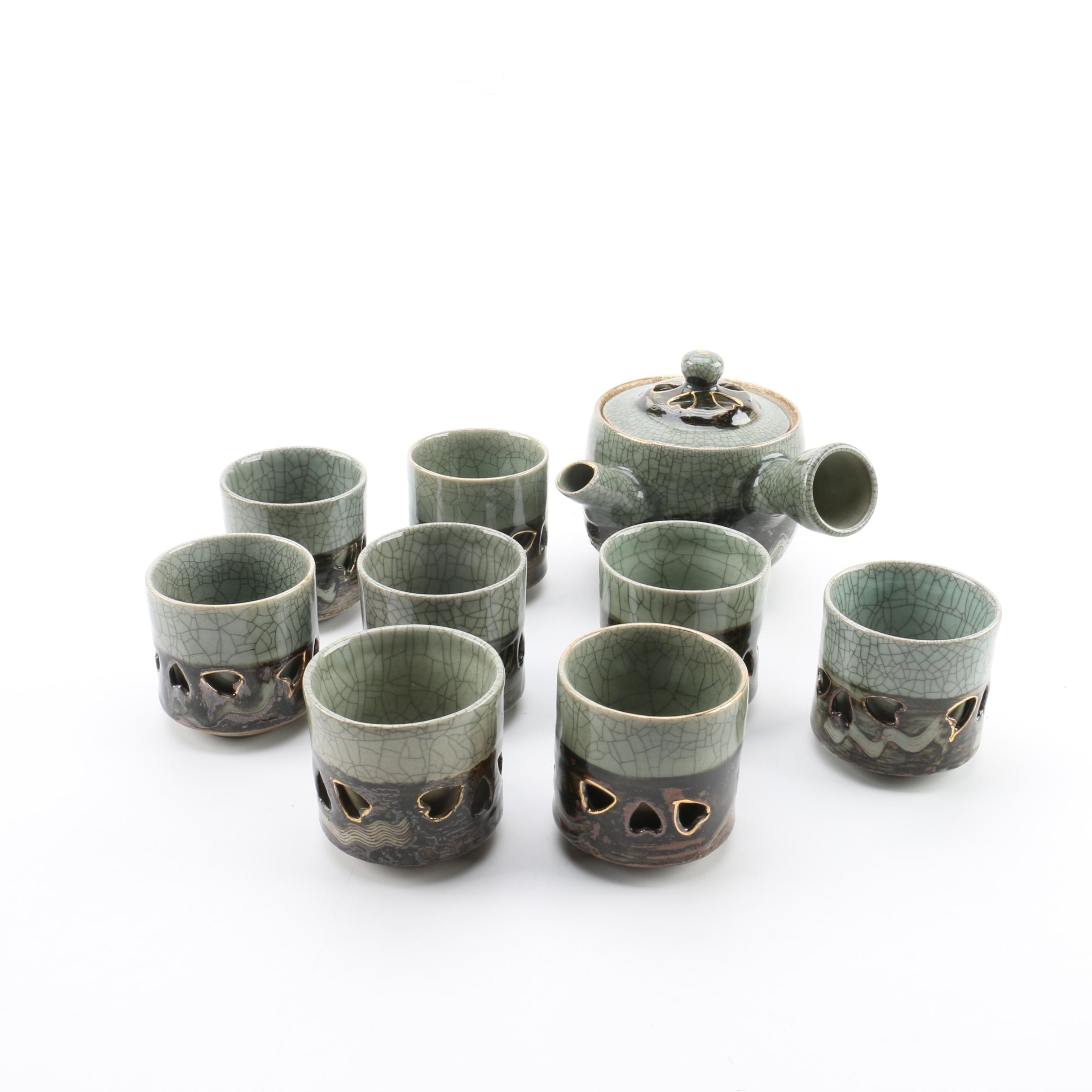Japanese Porcelain Teapot and Cups