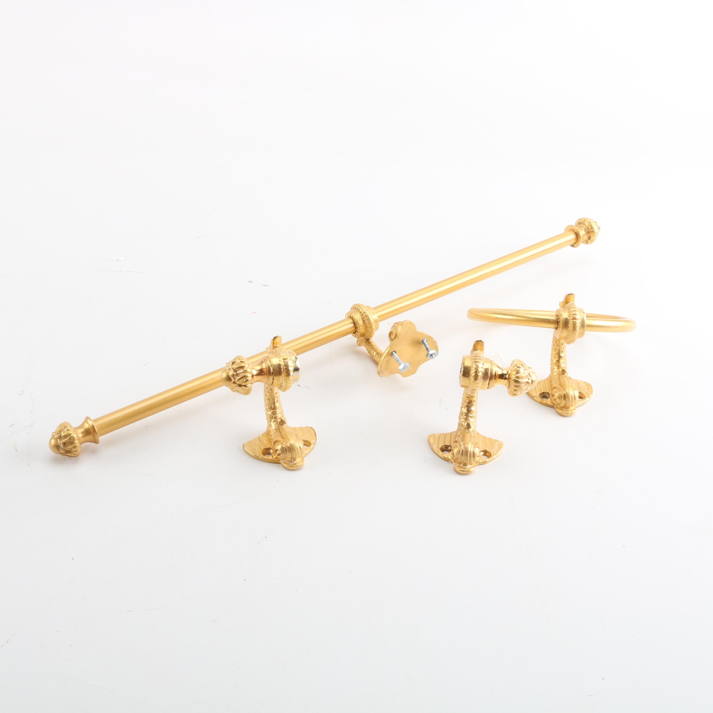 Brass Toned Towel Bars and More