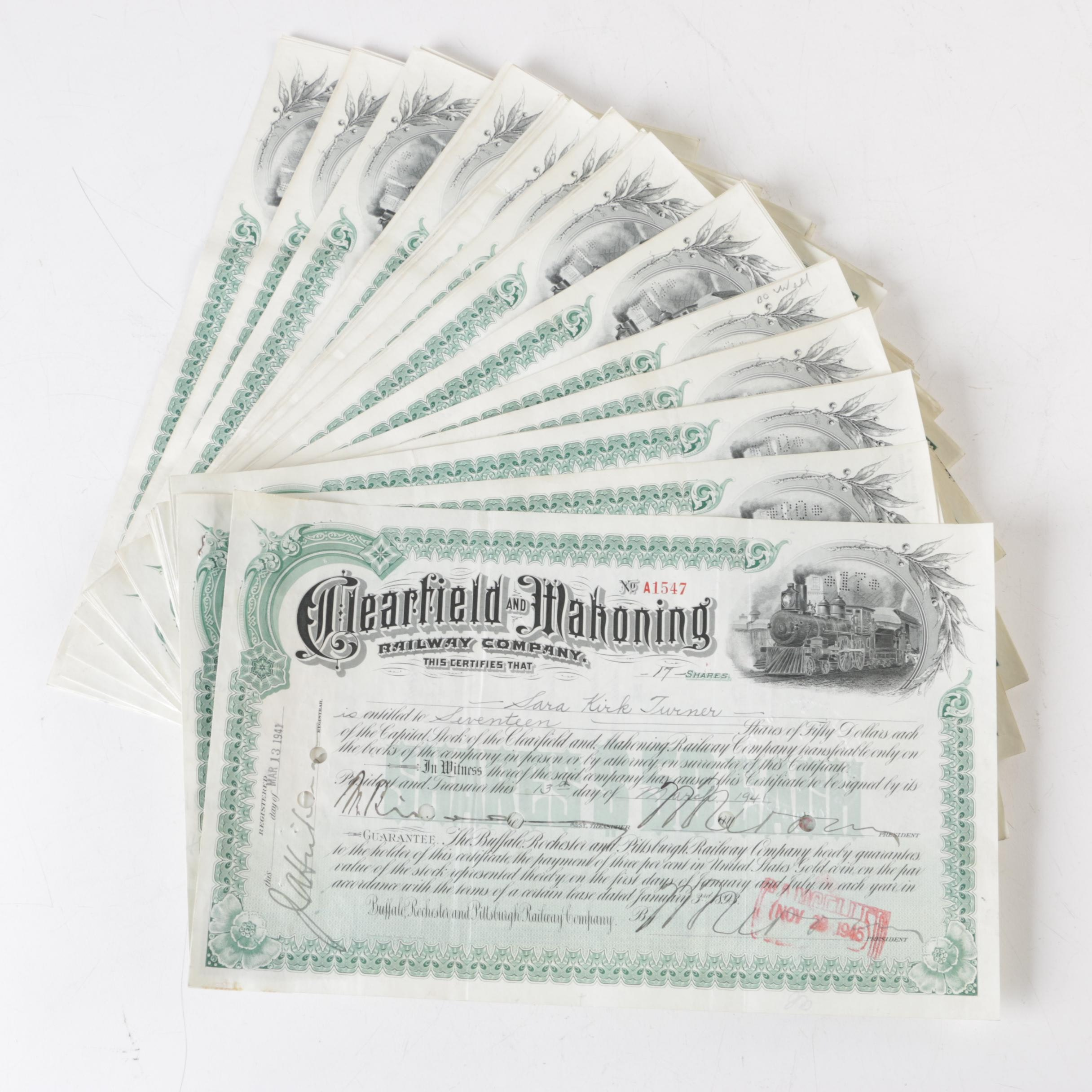 Railway Stock Certificates