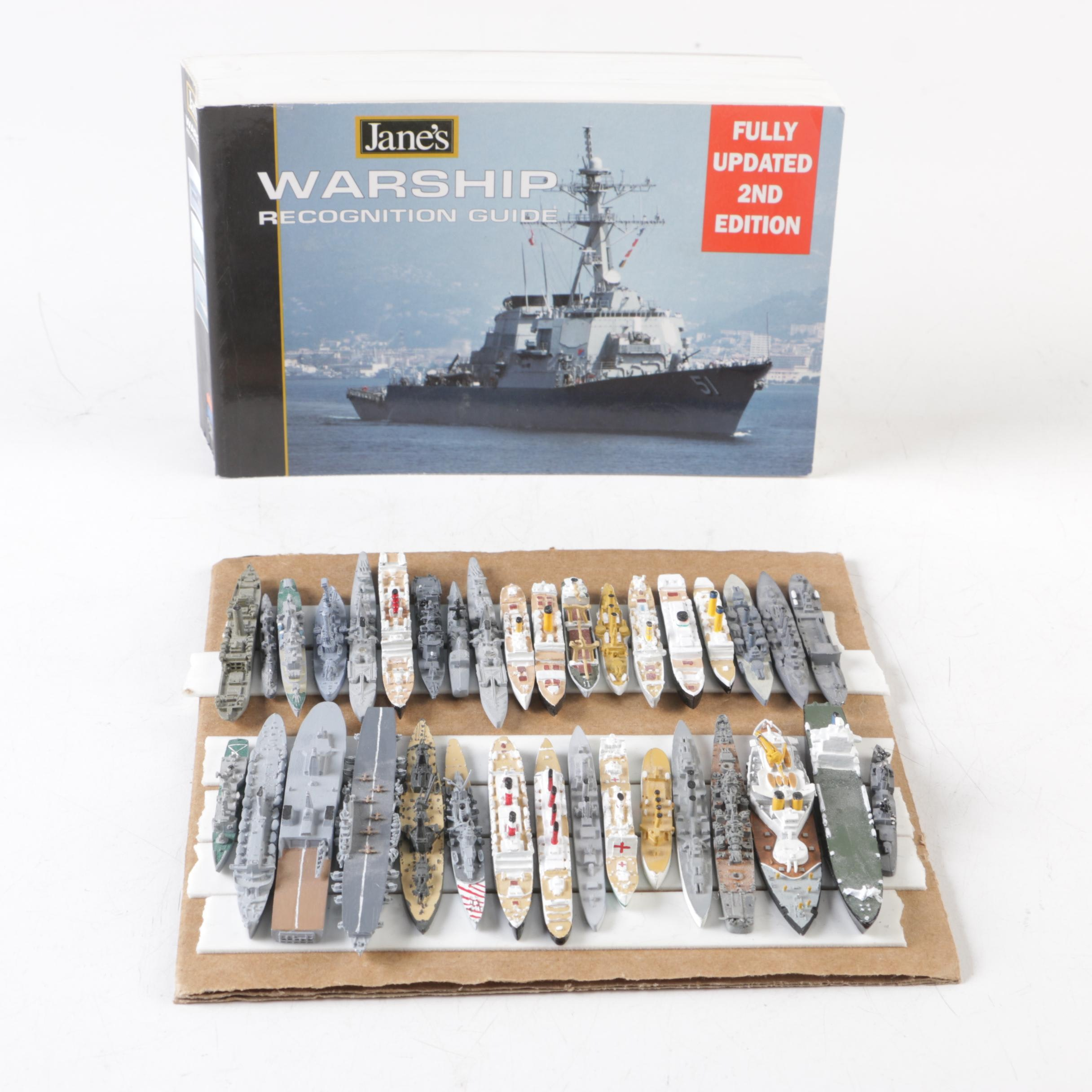 """1999 """"Jane's Warship Recognition Guide"""" and Model Naval Vessels"""