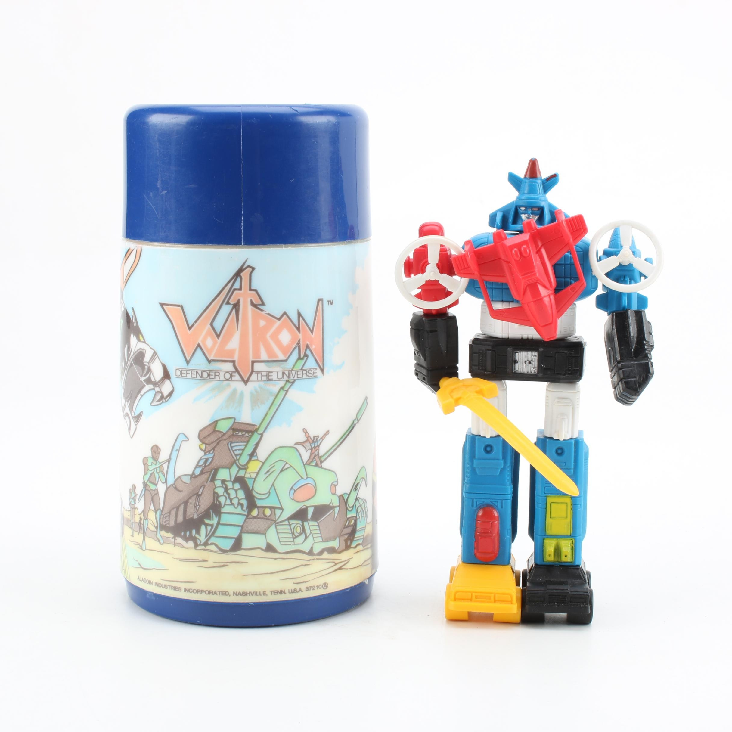 """""""Voltron"""" Thermos and Action Figure"""