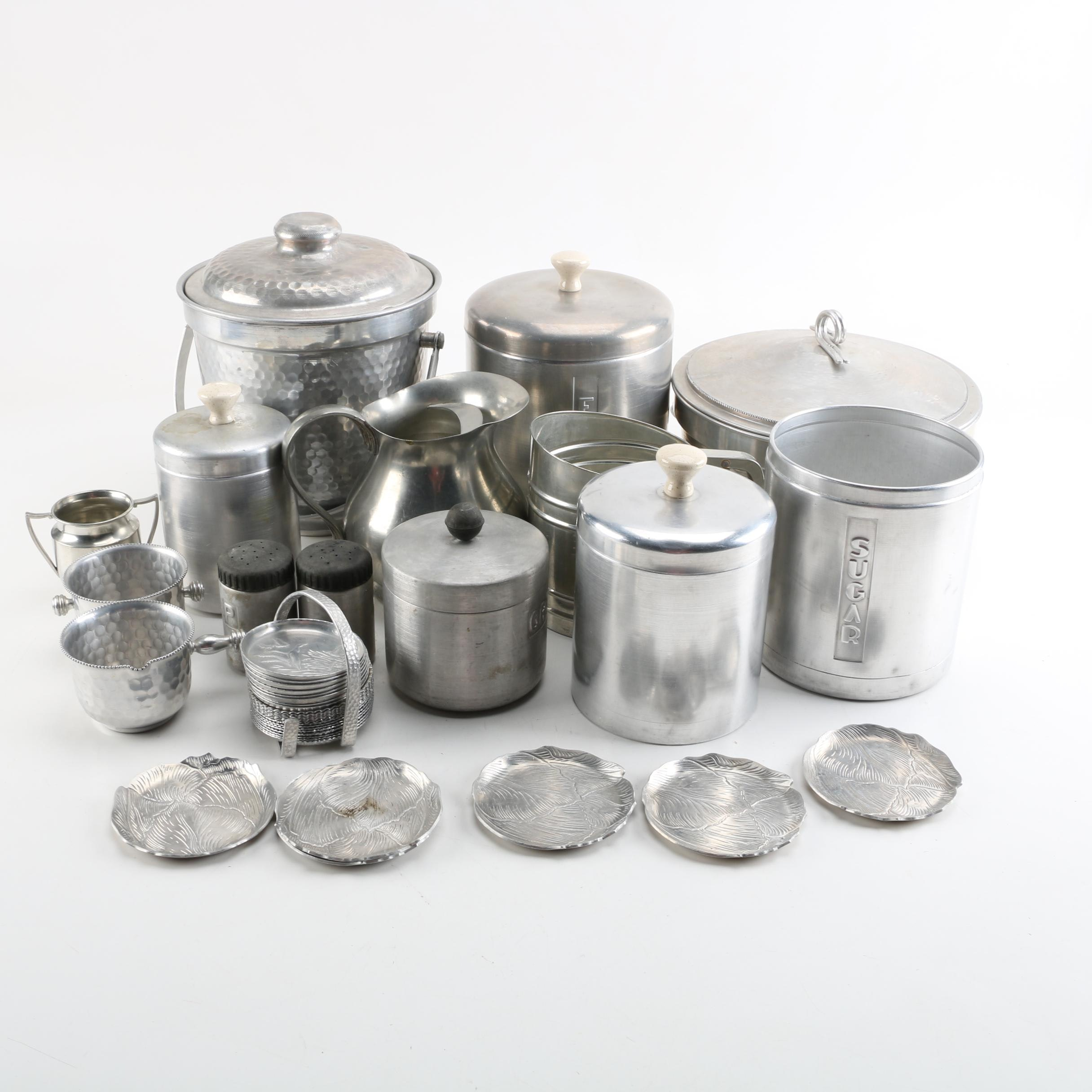 Collection of Mid Century Aluminum Kitchen Ware and More