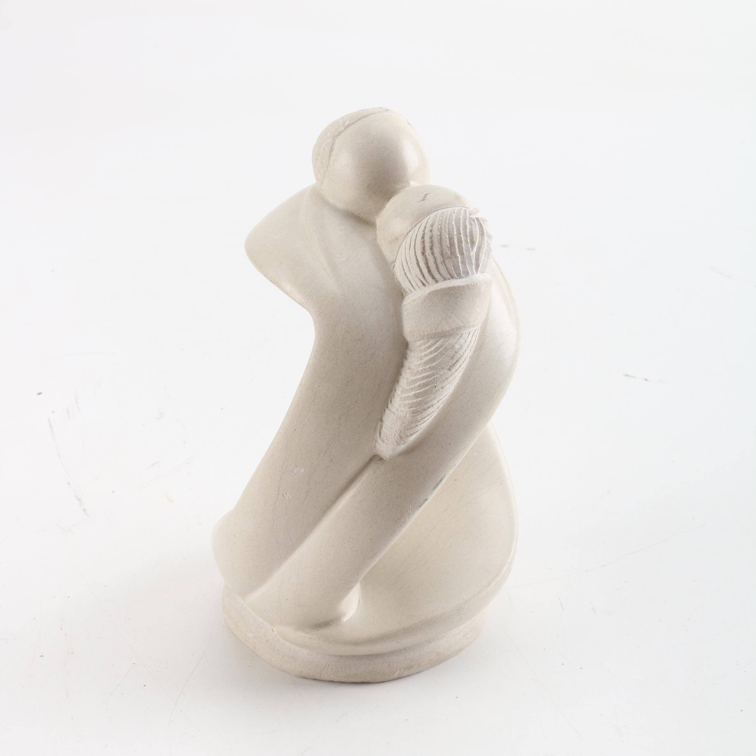 Carved Modernistic Soapstone Figurine