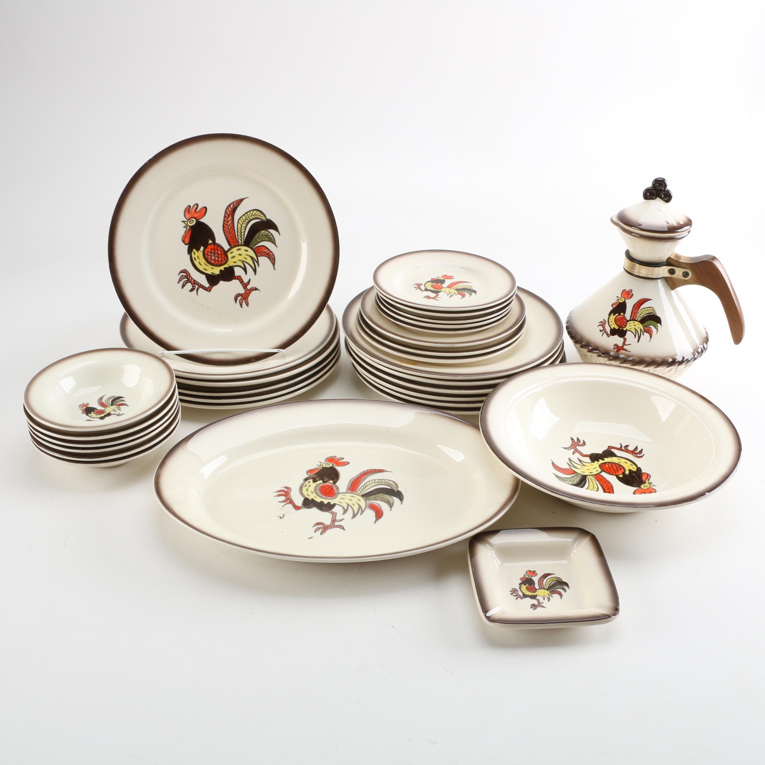 """Vintage Metlox """"California Provincial"""" Dinnerware"""