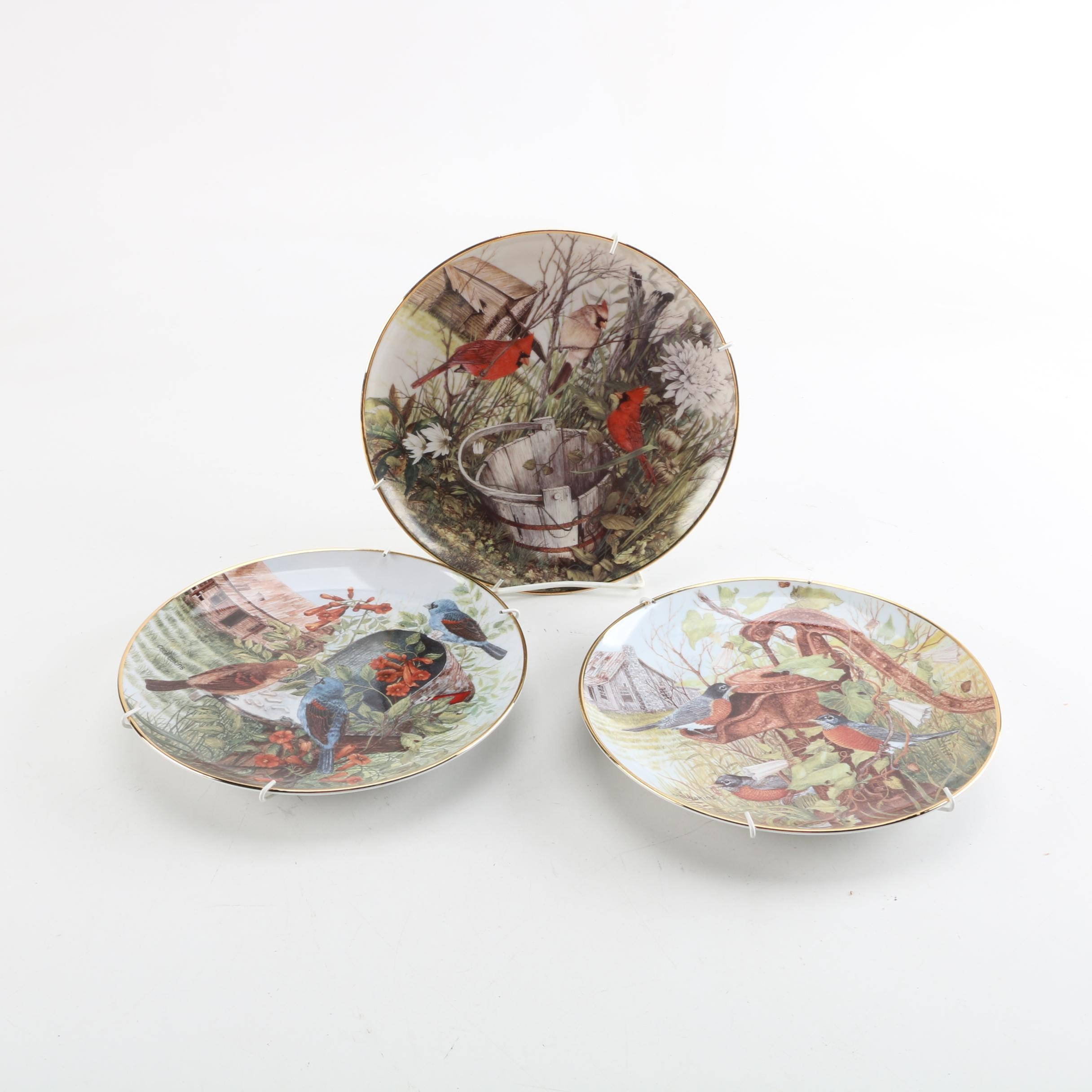 Franklin Mint Cecile Eakins Limited Edition Decorative Bird Plates