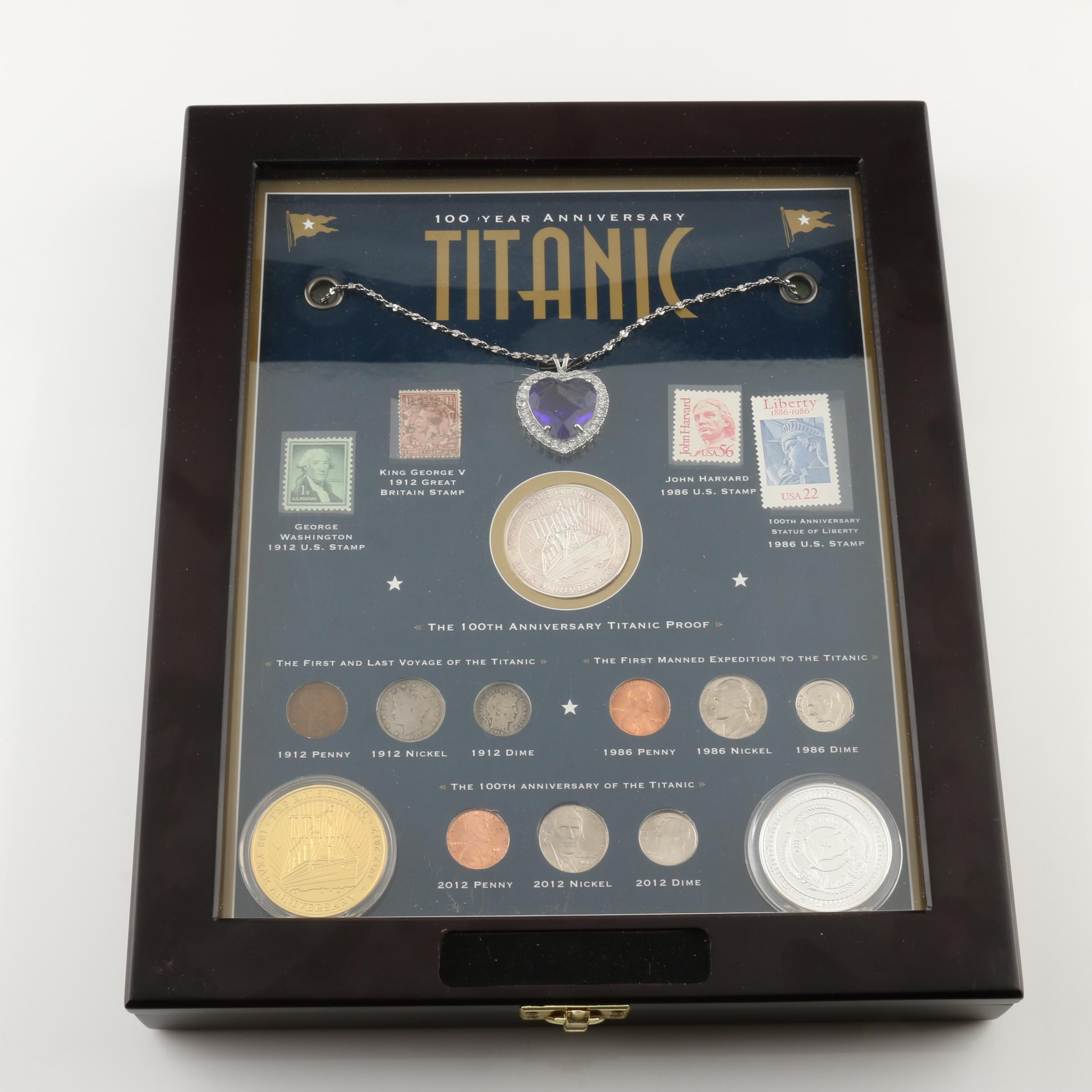 Titanic 100th Anniversary Coin and Stamp Set