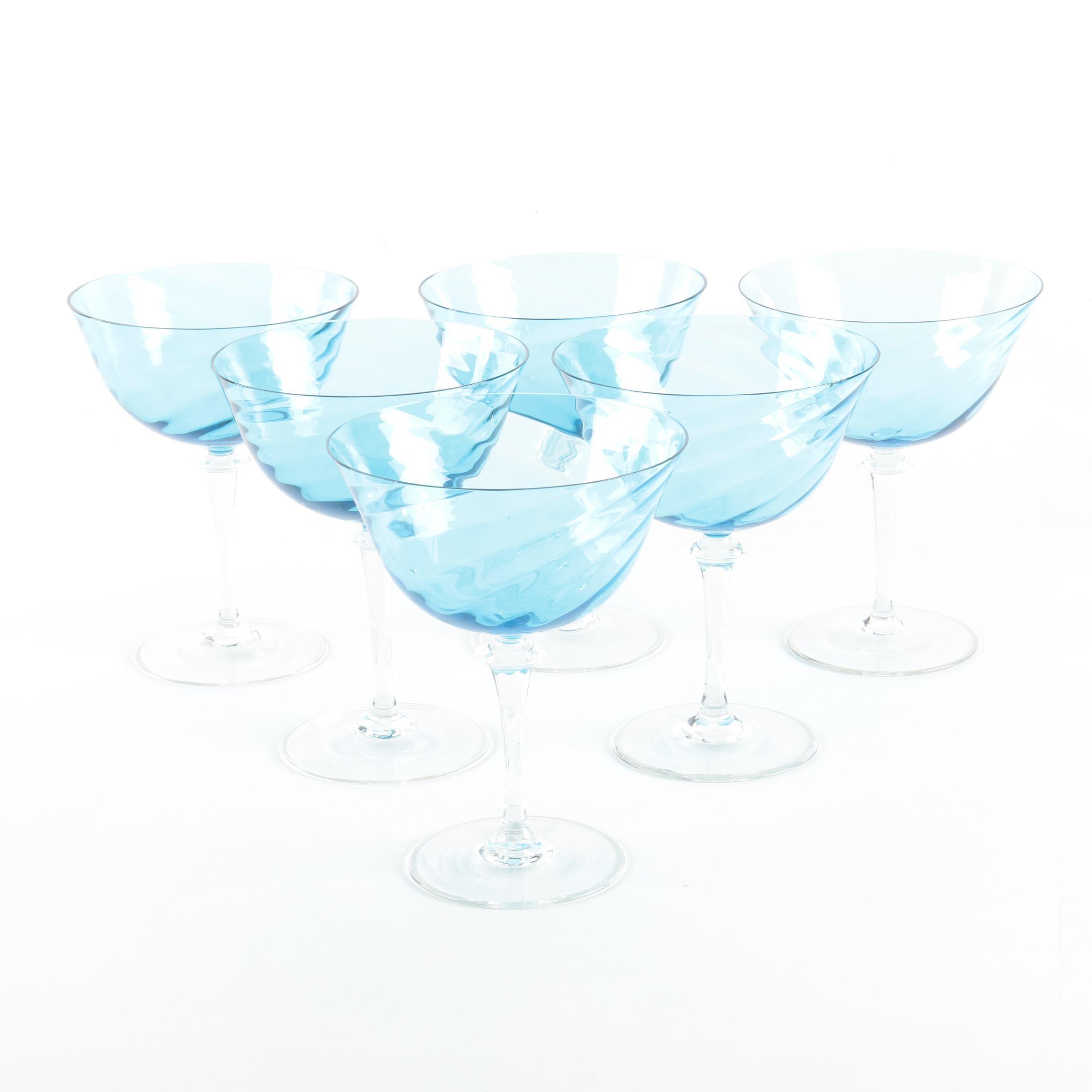 Blue Glass Stemware