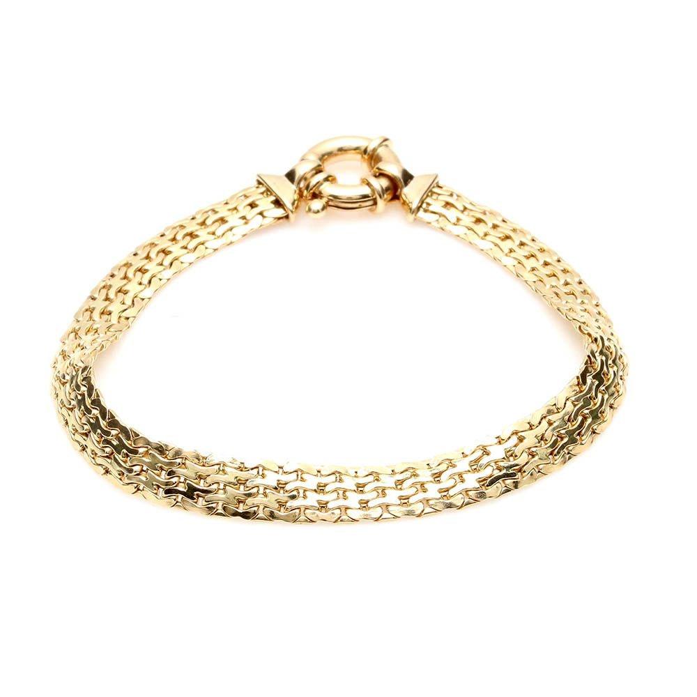 14K Yellow Gold Custom Link Bracelet