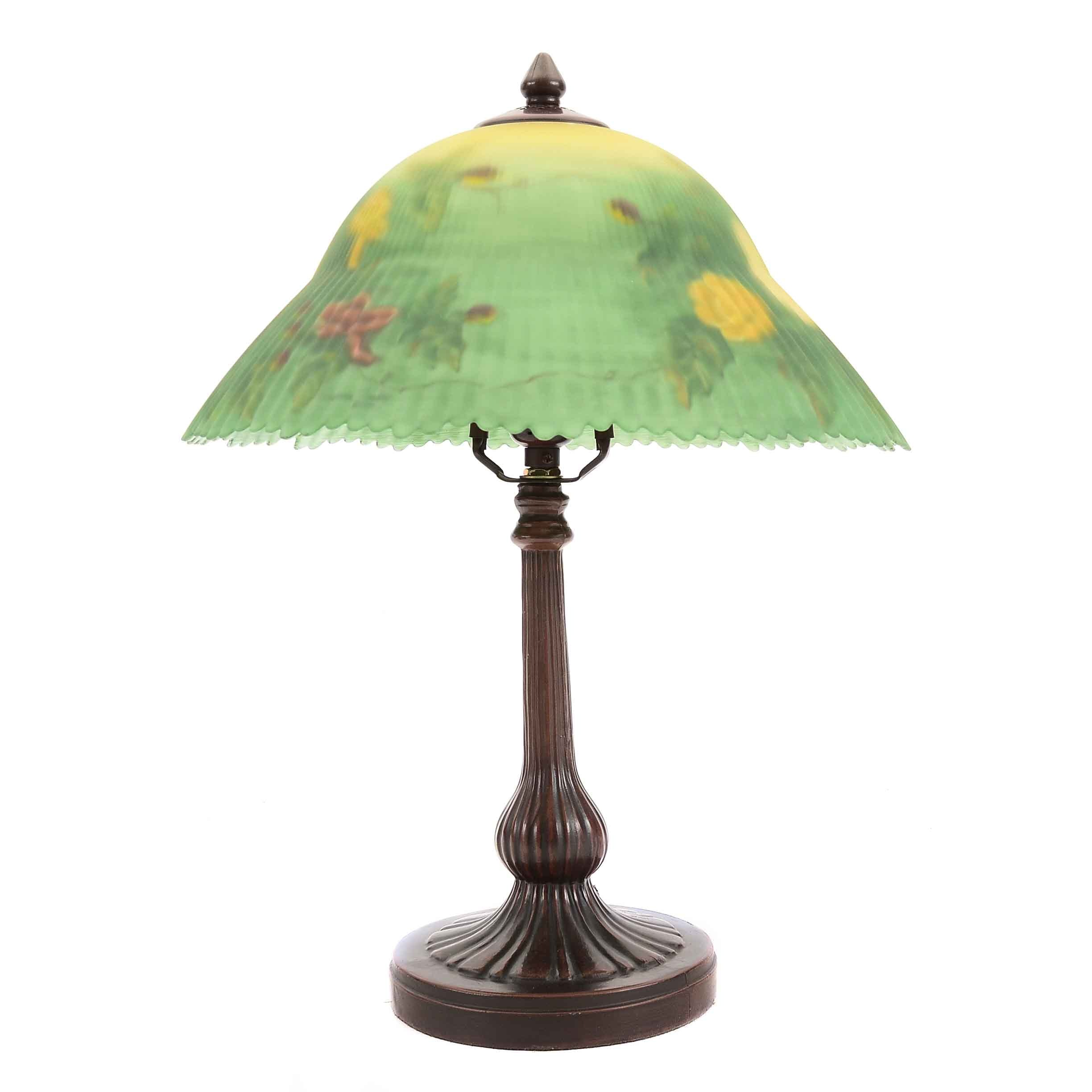 Dale Tiffany Lamp With Reverse Painted Shade ...