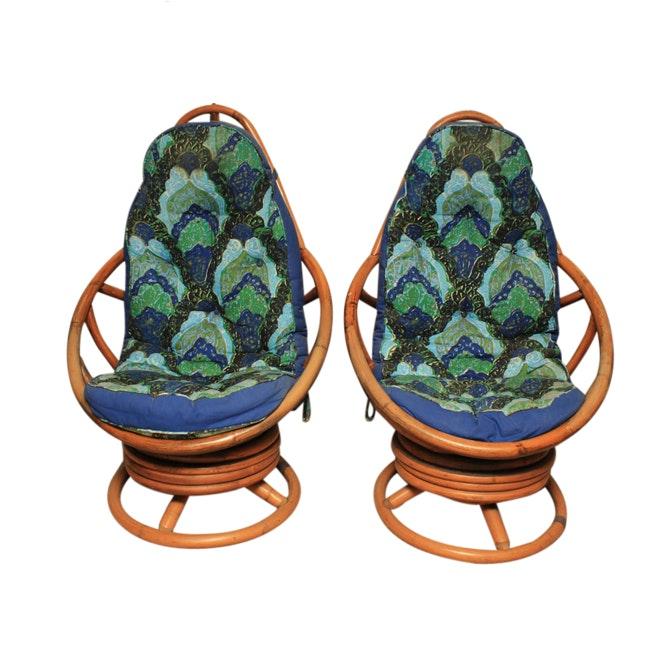 Swivel Papasan Chairs