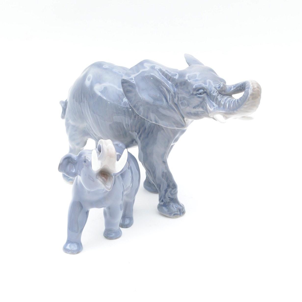 Royal Copenhagen Elephant Figurines