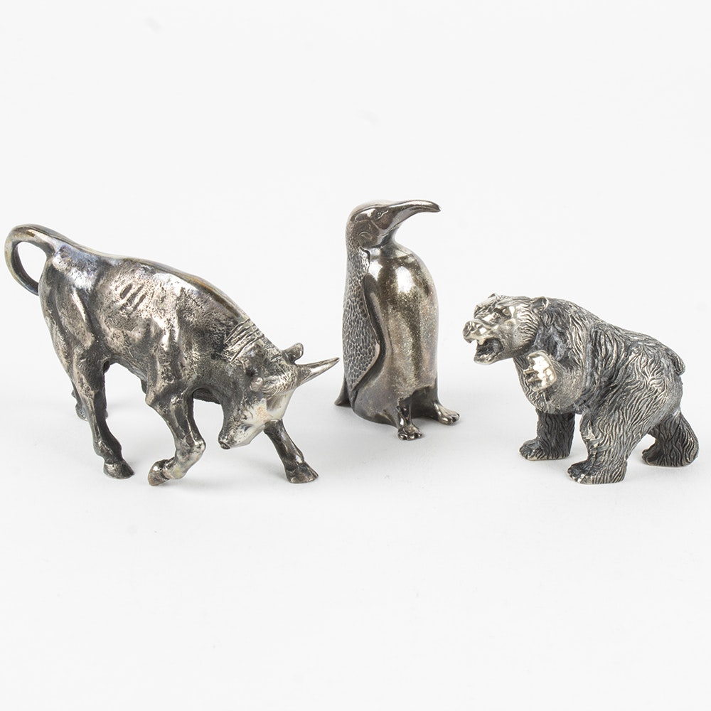 Stieff Sterling Silver Animal Figurines