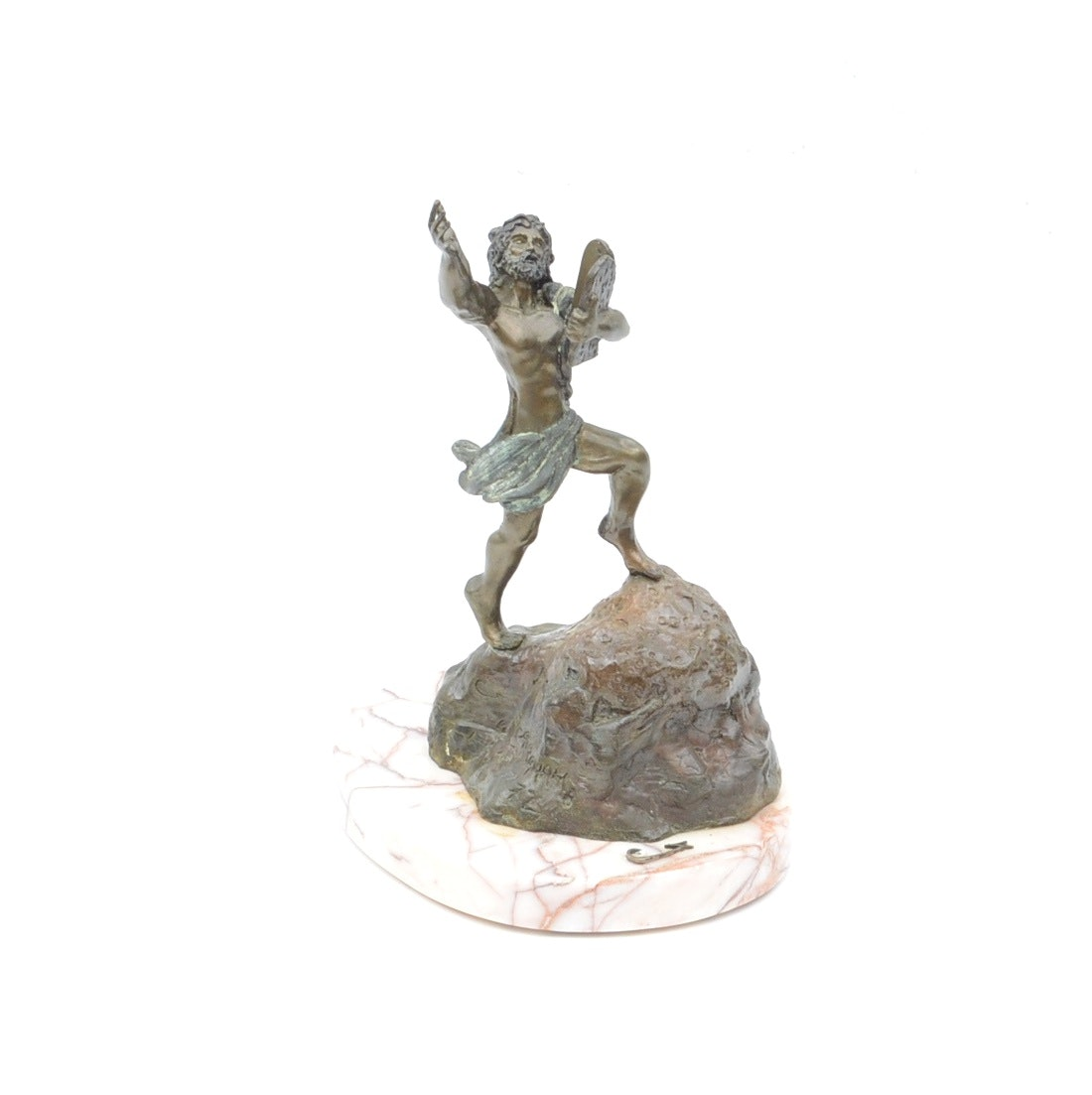 Bronze Moses on Marble