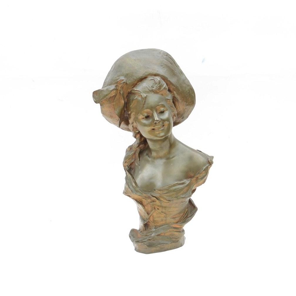George Van Der Straeten Bronze Sculpture