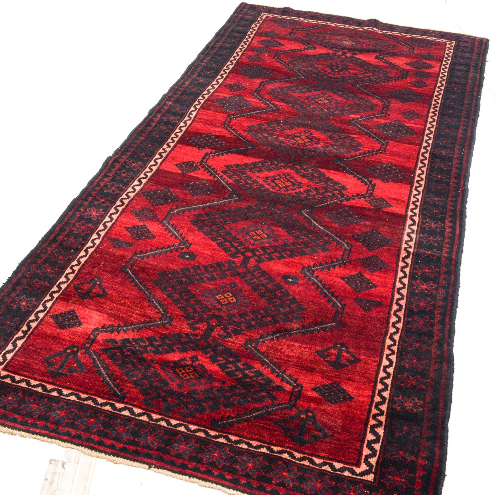 Vintage Hand-Knotted Persian Shiraz Rug