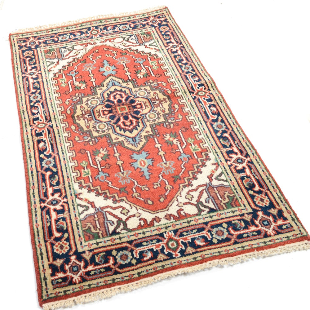 Hand-Knotted Indo-Persian Bakhshayesh Heriz Rug