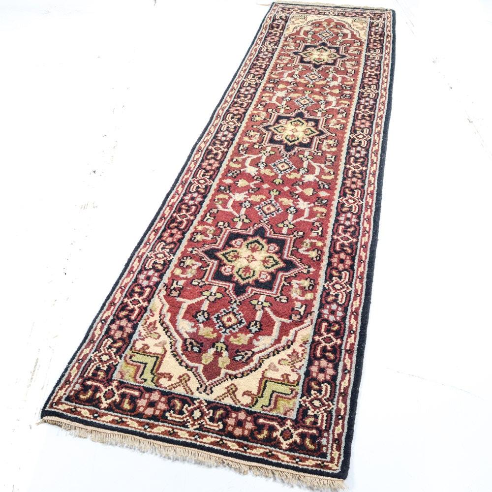 Hand-Knotted Indo-Persian Bakhshayesh Heriz Runner