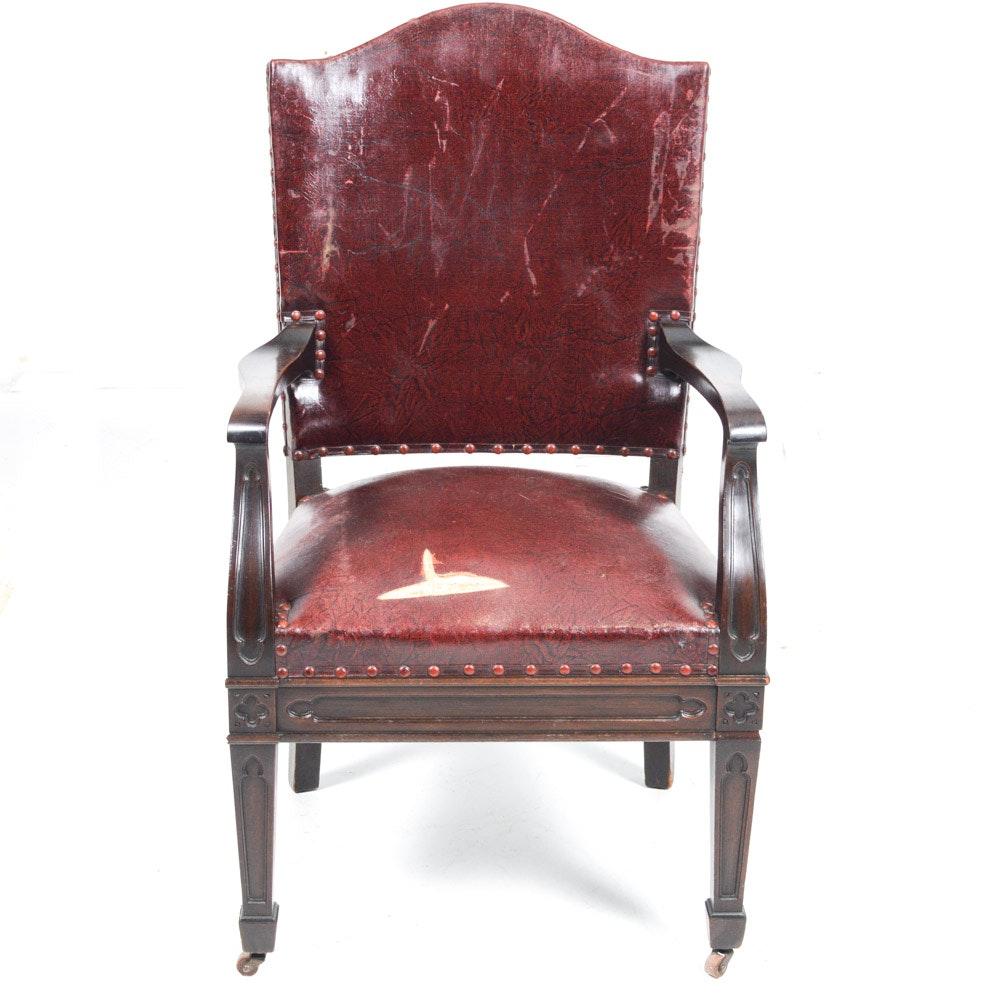 Circa 1914 Stow Davis Camelback Armchair